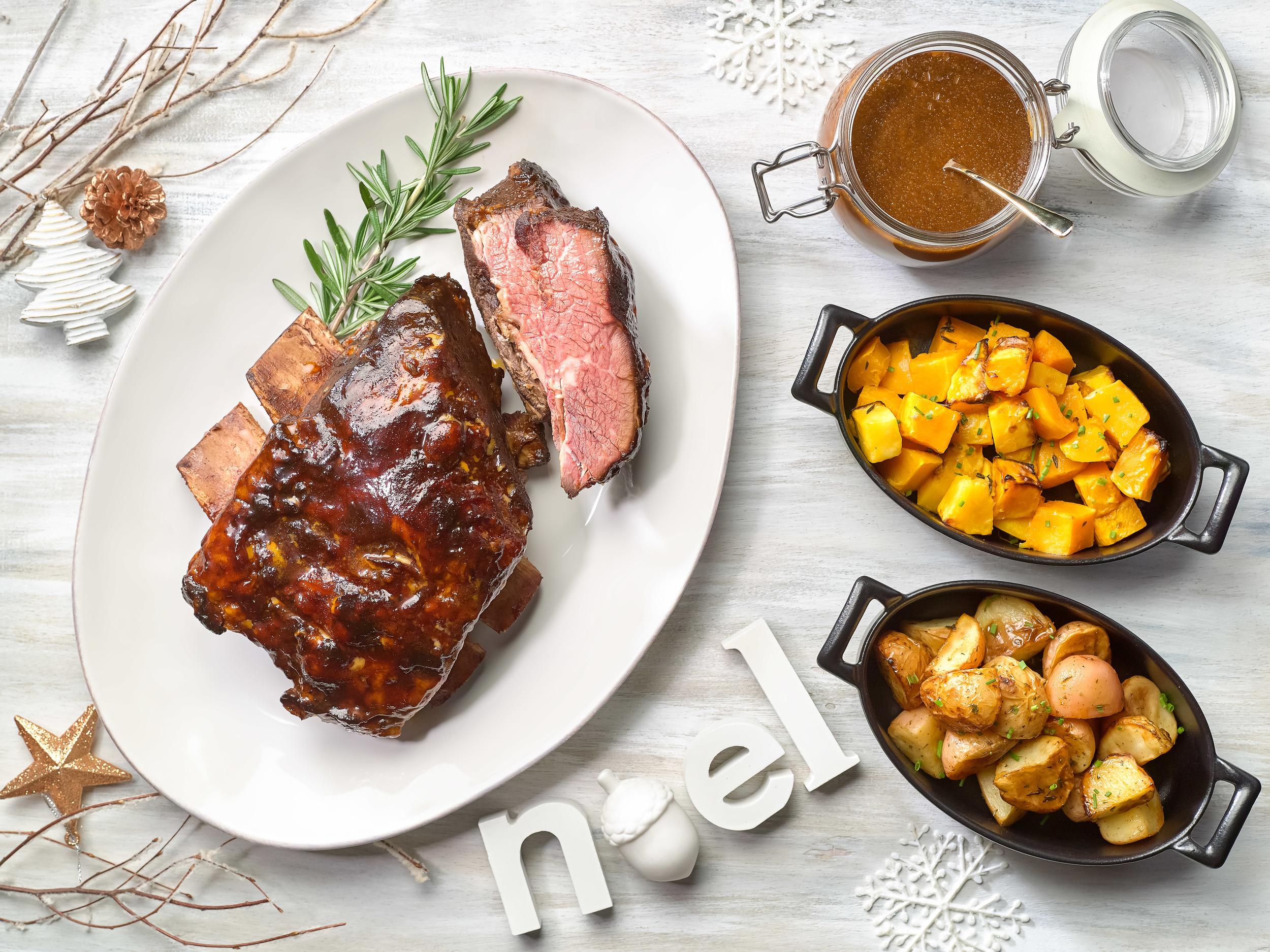 Roasted Texas BBQ Beef Short-Rib | Photo Credit:  Crowne Plaza Changi Airport