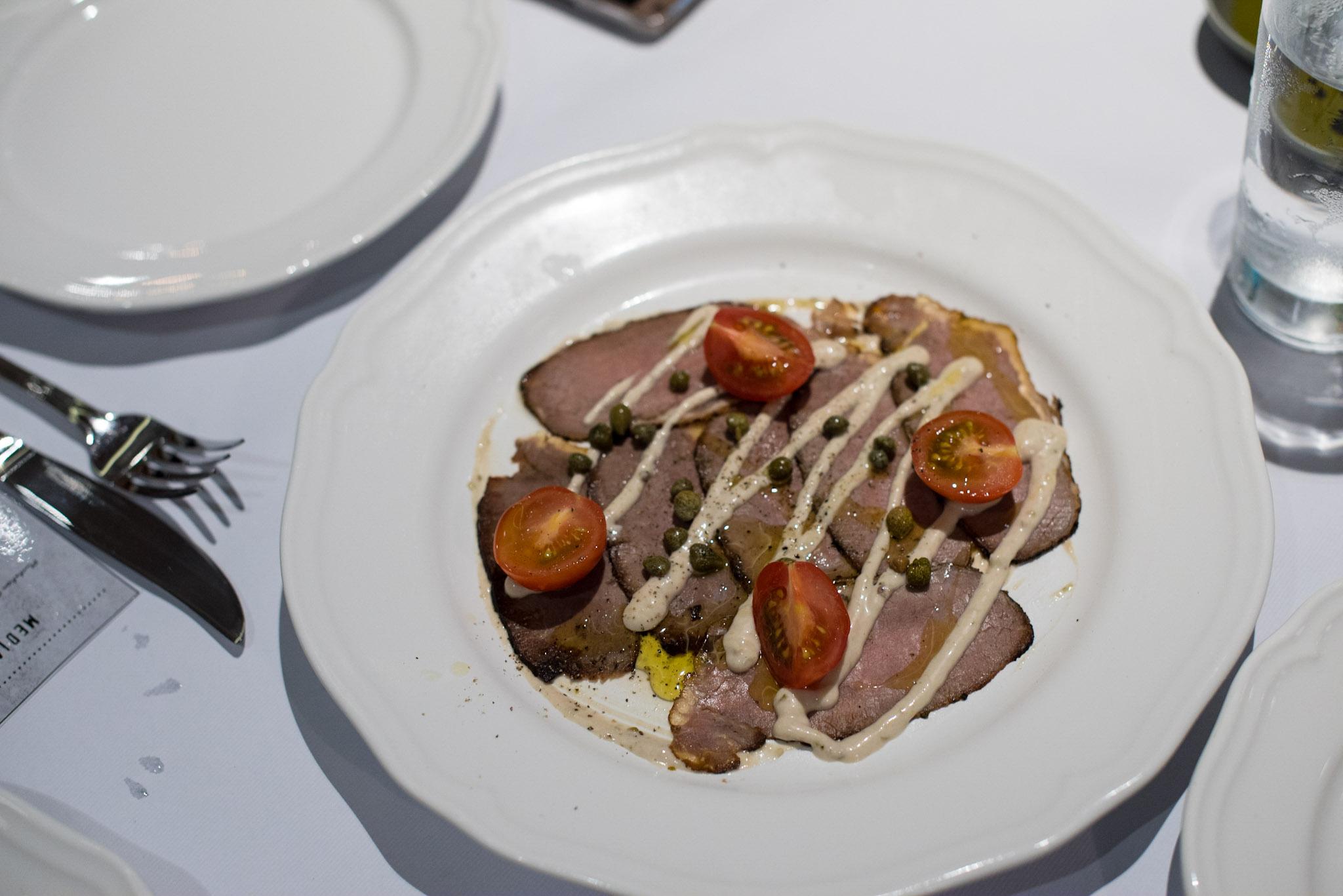 Vitello Tonnato, Thinly Sliced Roasted Veal Loin with Light Tuna Sauce  (S$24++) District 10 Suntec City