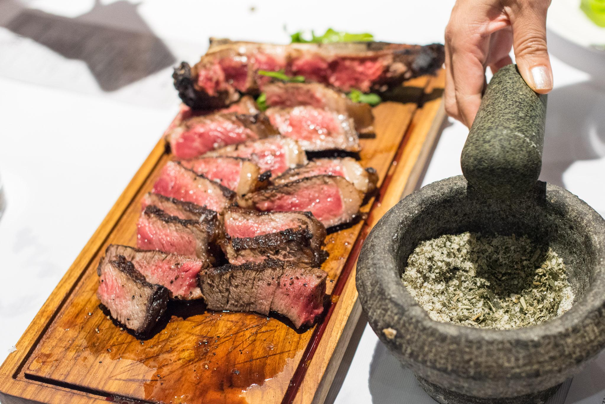 45 days Dry Aged Corn-fed Traditional Fiorentina Steak (S$22++ per 100g) District 10 Suntec City