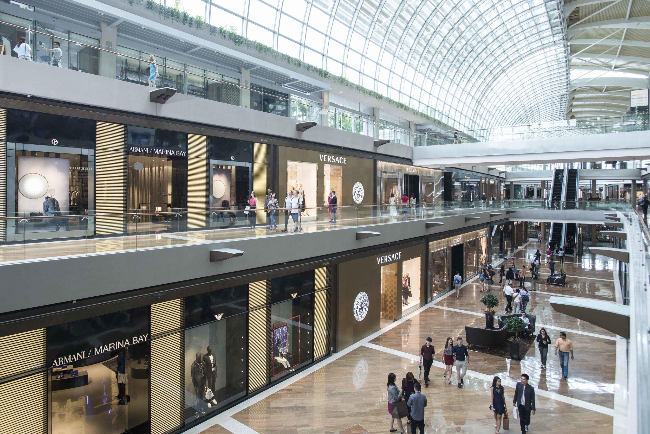 Galleria Level of MBA | Photo Credit: Marina Bay Sands