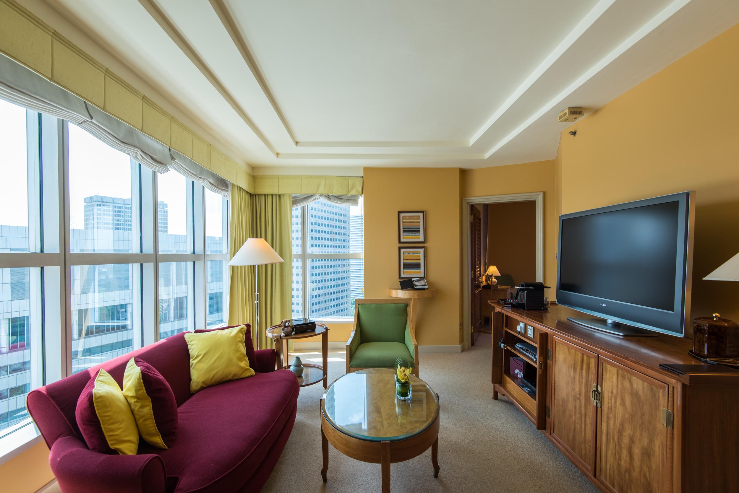 Living Room of the Centennial Suite  Conrad Centennial Singapore