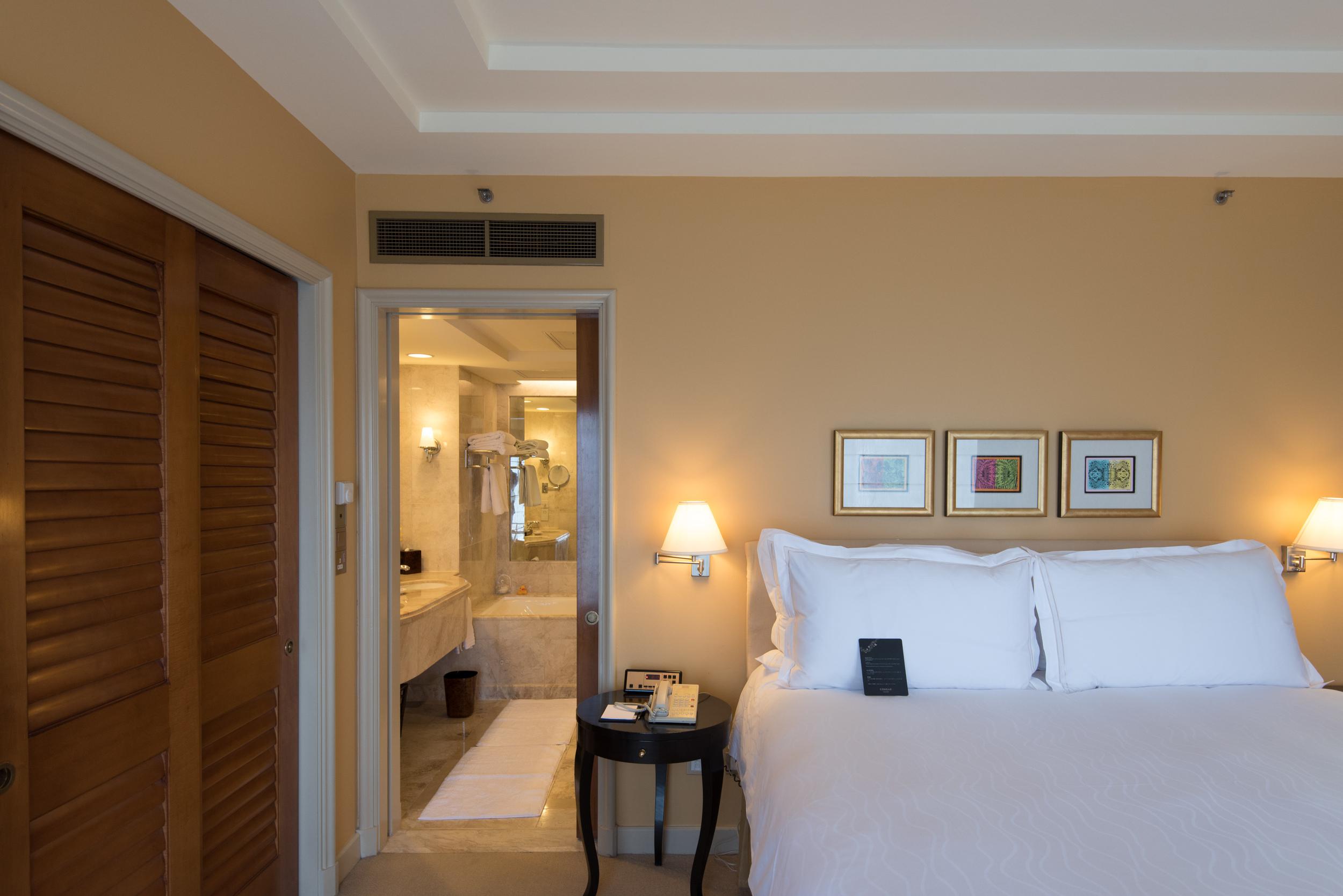 Bedroom of the Centennial Suite  Conrad Centennial Singapore
