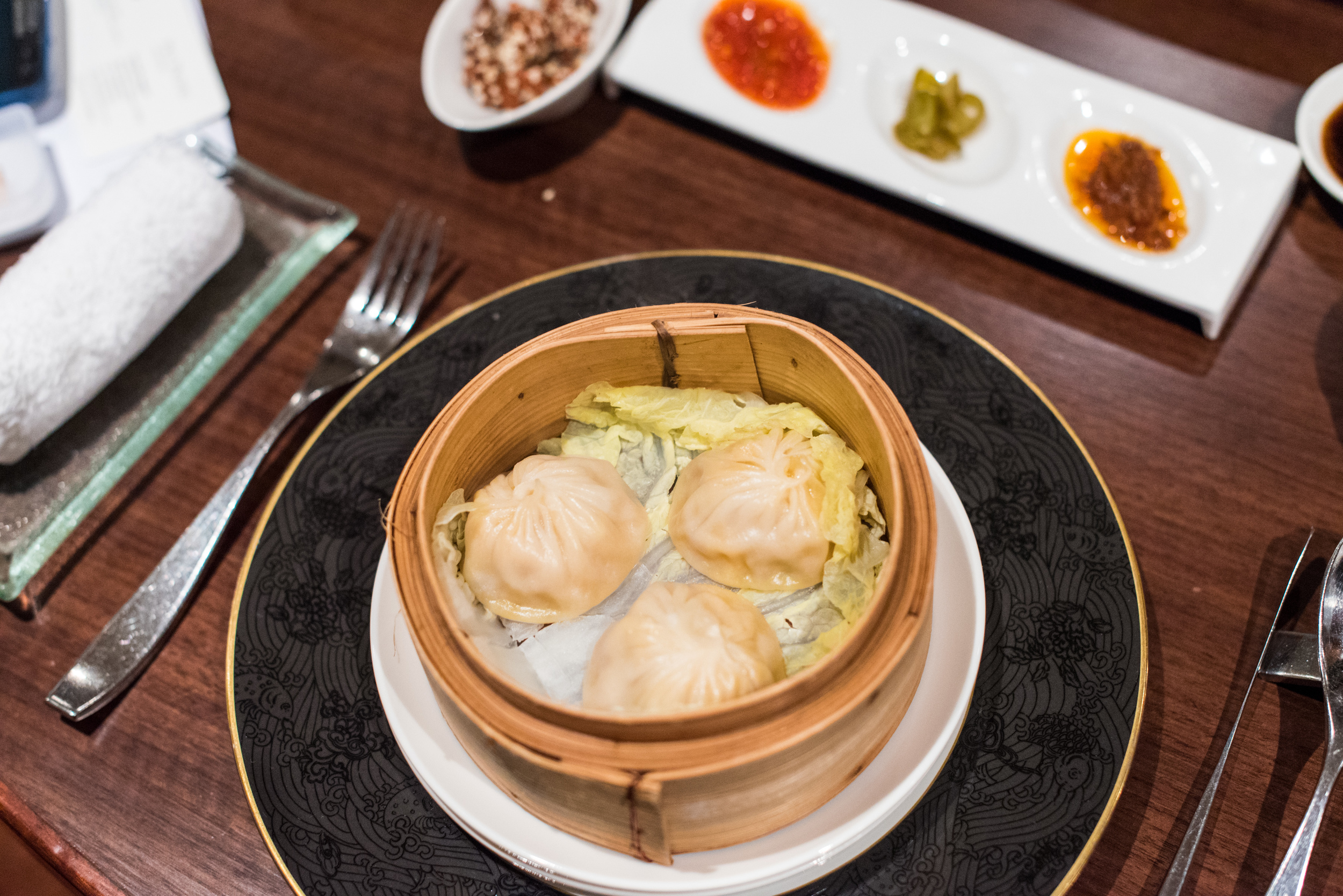 Steamed Minced Pork Dumplings with Hairy Crab Meat and Roe  Hai Tien Lo - Pan Pacific Singapore