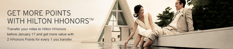 Hilton Honors Points with Citibank Credit Card | Photo Credit: Citibank Singapore