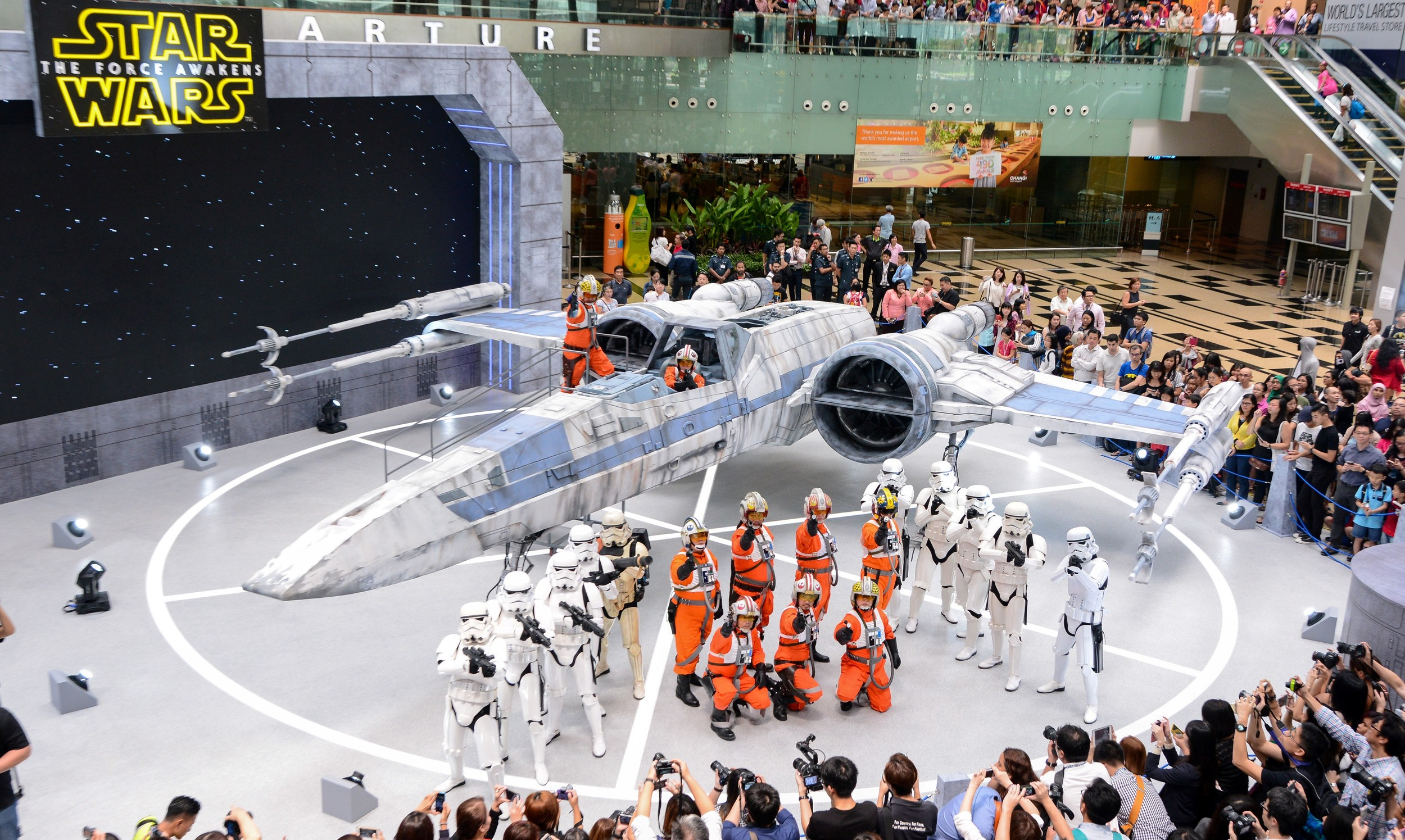 X-wing Fighter at Changi Airport | Photo Credit:Changi Airport Group