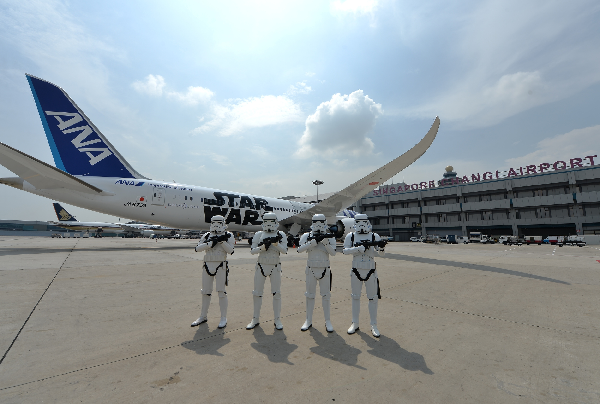 Stormtroopers™in Changi Airport | Photo Credit: Changi Airport Group