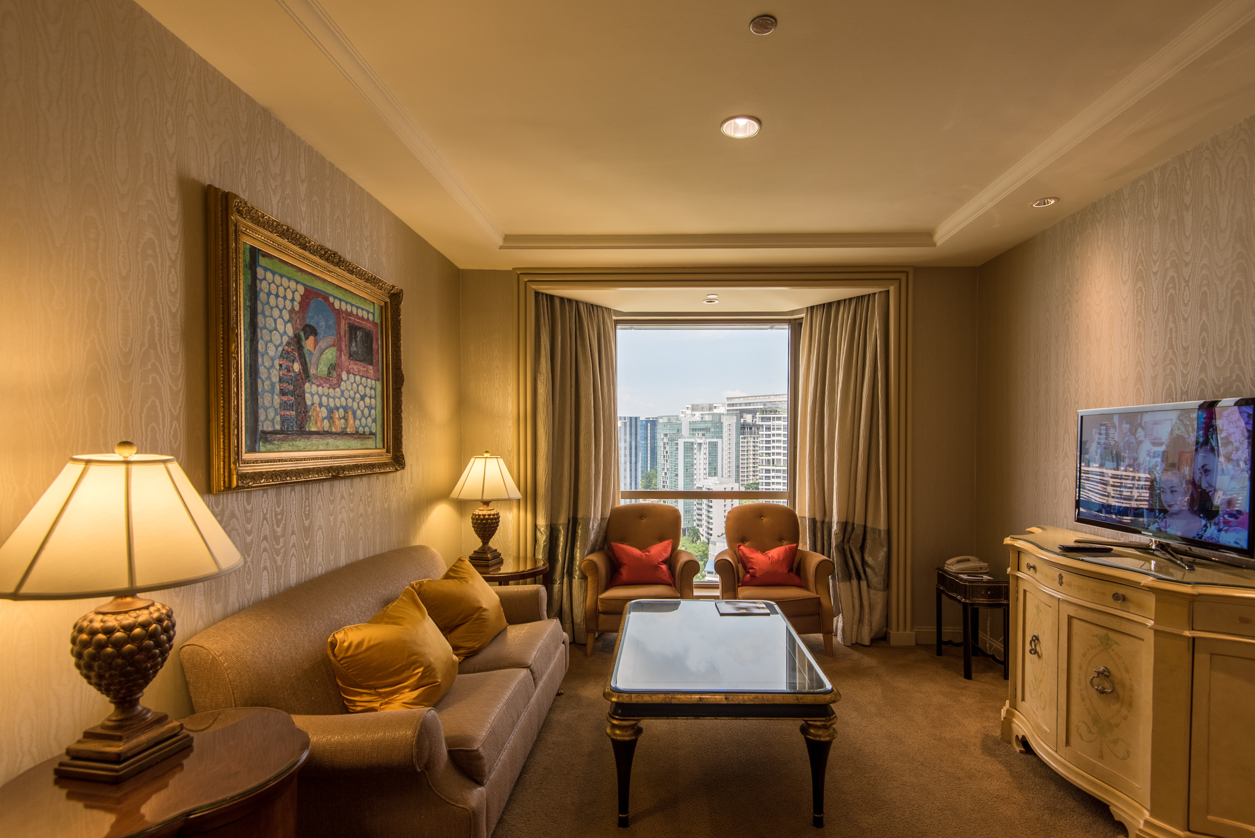 Living Room  Executive Suite - Sheraton Towers Singapore