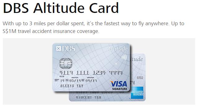 DBS Altitude Card (AmEx and Visa)
