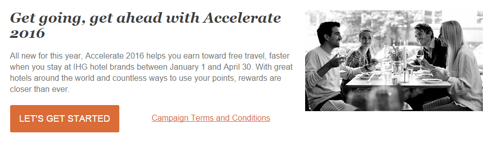 IHG Accelerate Offer for 2016 | Photo Credit: InterContinental Hotels Group