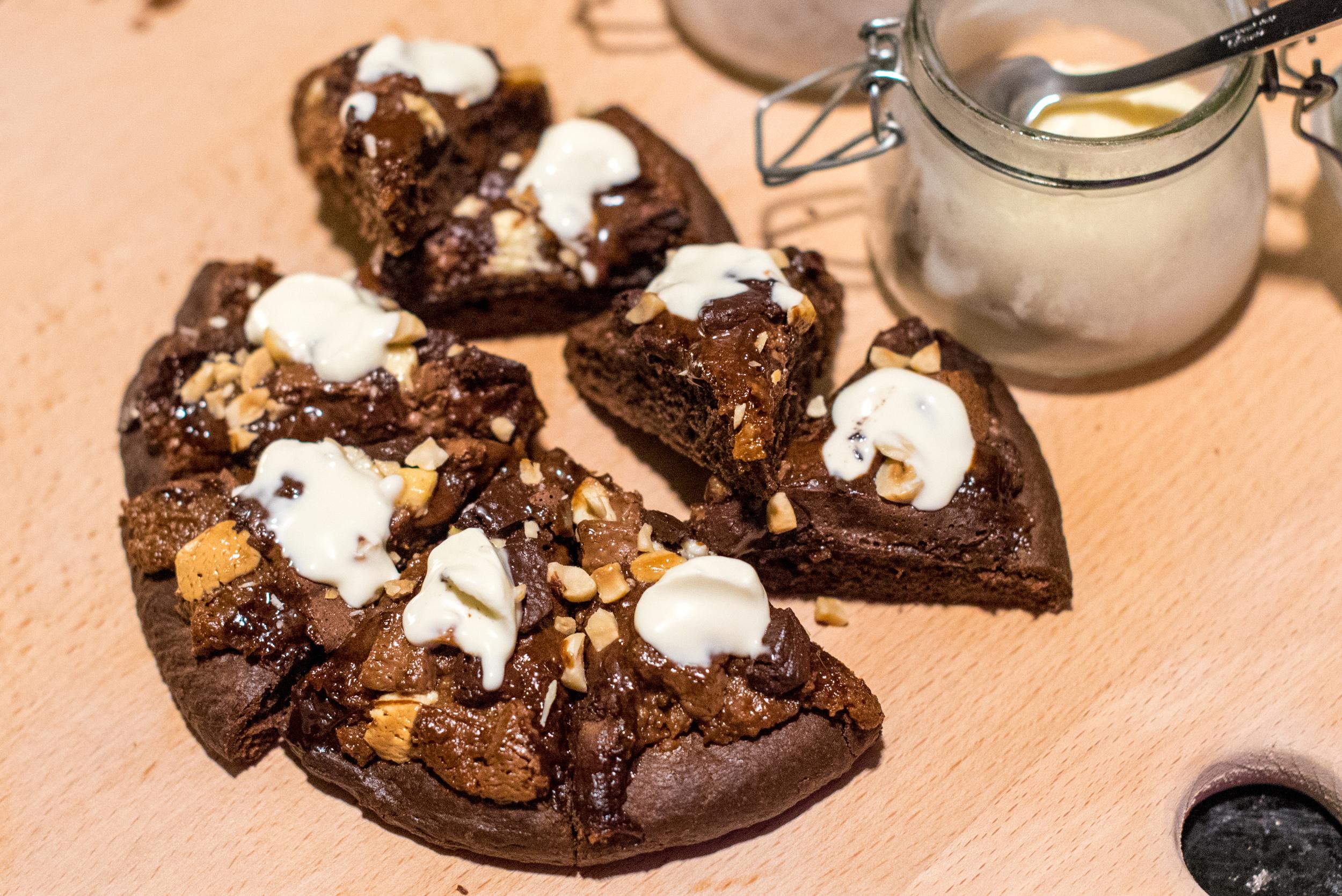 Chocolate-hazelnut Pizza  Ash & Elm -InterContinental Singapore