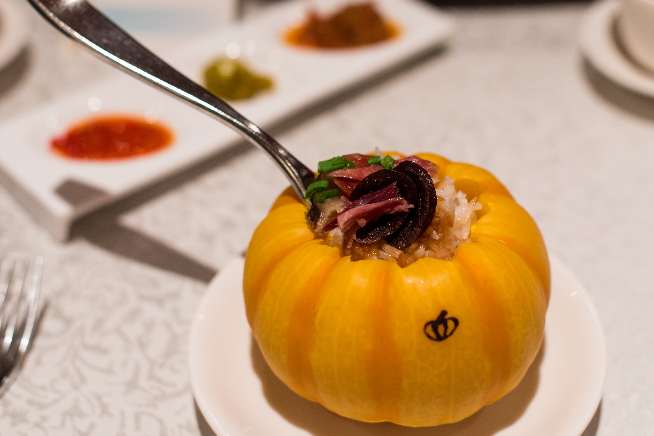 Fragrant Steamed Rice with Preserved Meat      Hai Tien Lo - Pan Pacific Singapore