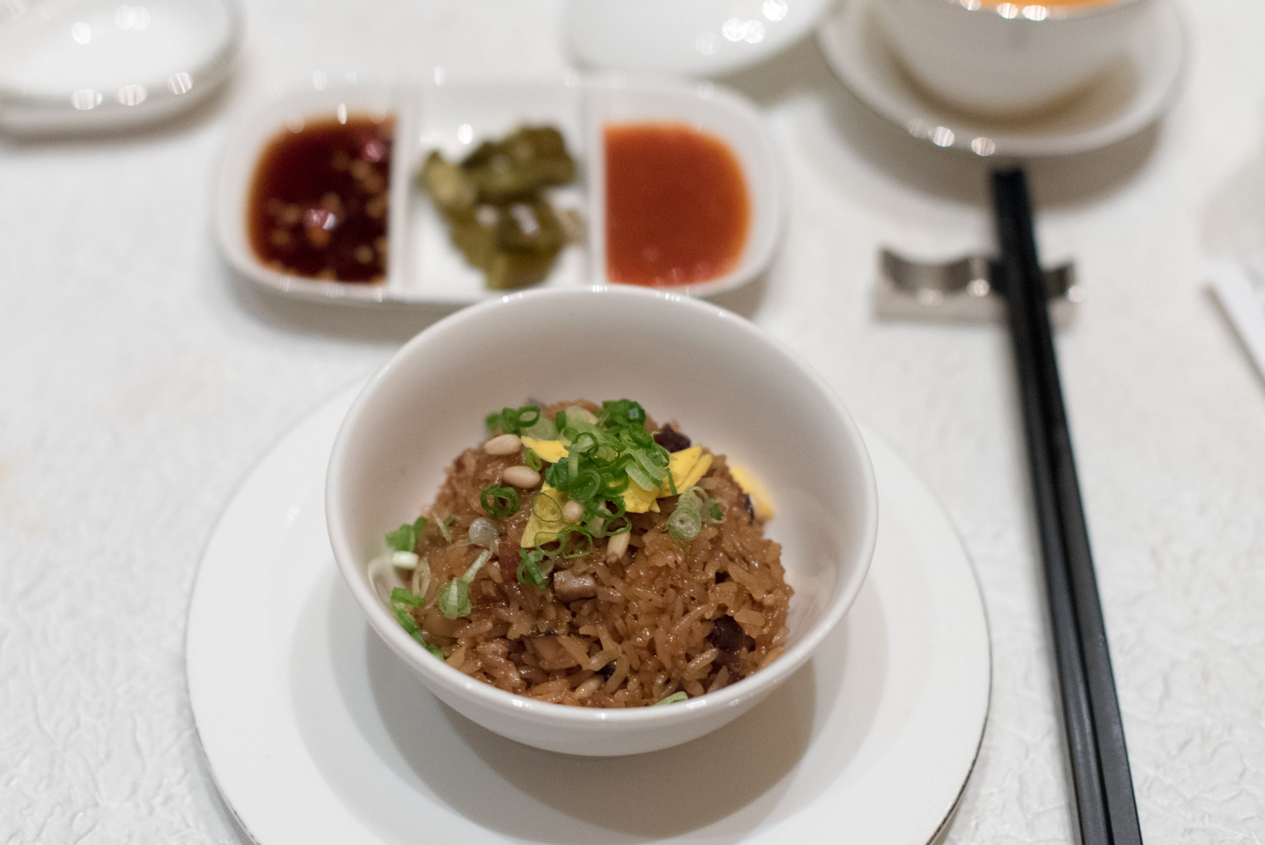 Fragrant Wok-fried Glutinous Rice with Chinese Sausage   Jade - The Fullerton Hotel
