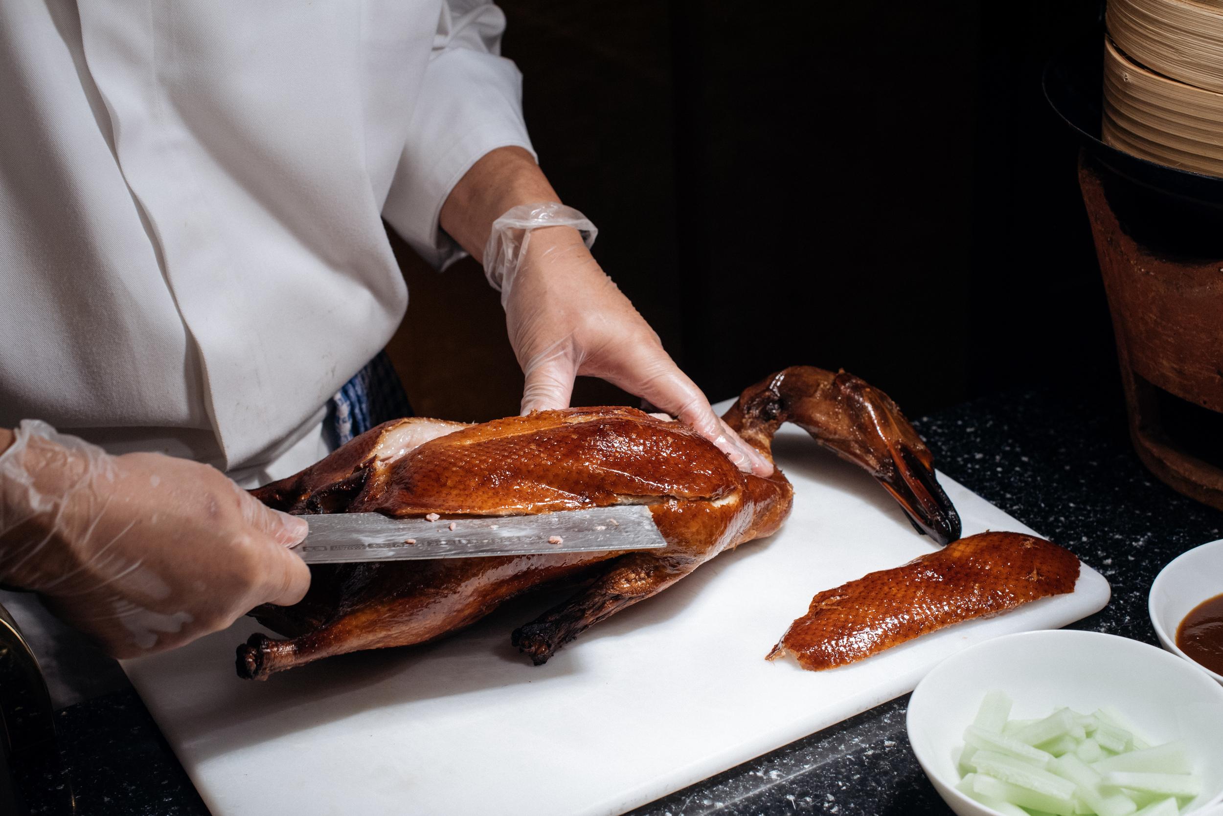 Roasted Peking Duck 'Live' Station  Summer Palace - Regent Singapore