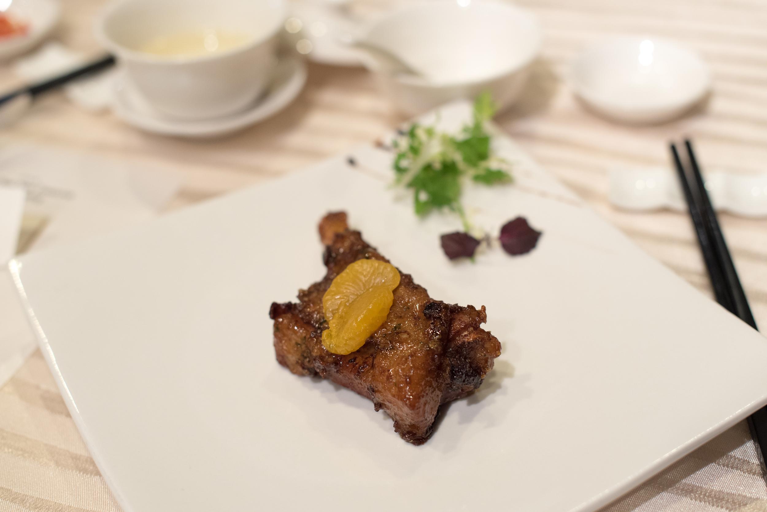 Pork Rib with Mandarin Orange     Wan Hao - Singapore Marriott Tang Plaza Hotel
