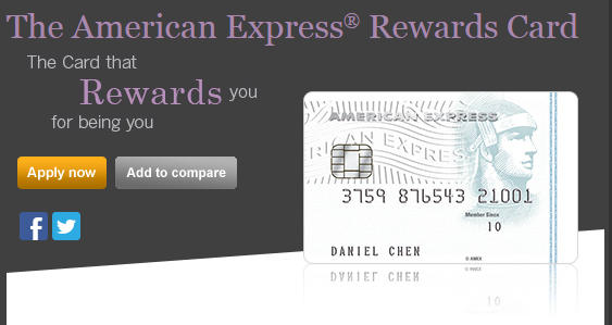The American Express® Rewards Card | Photo Credit: American Express