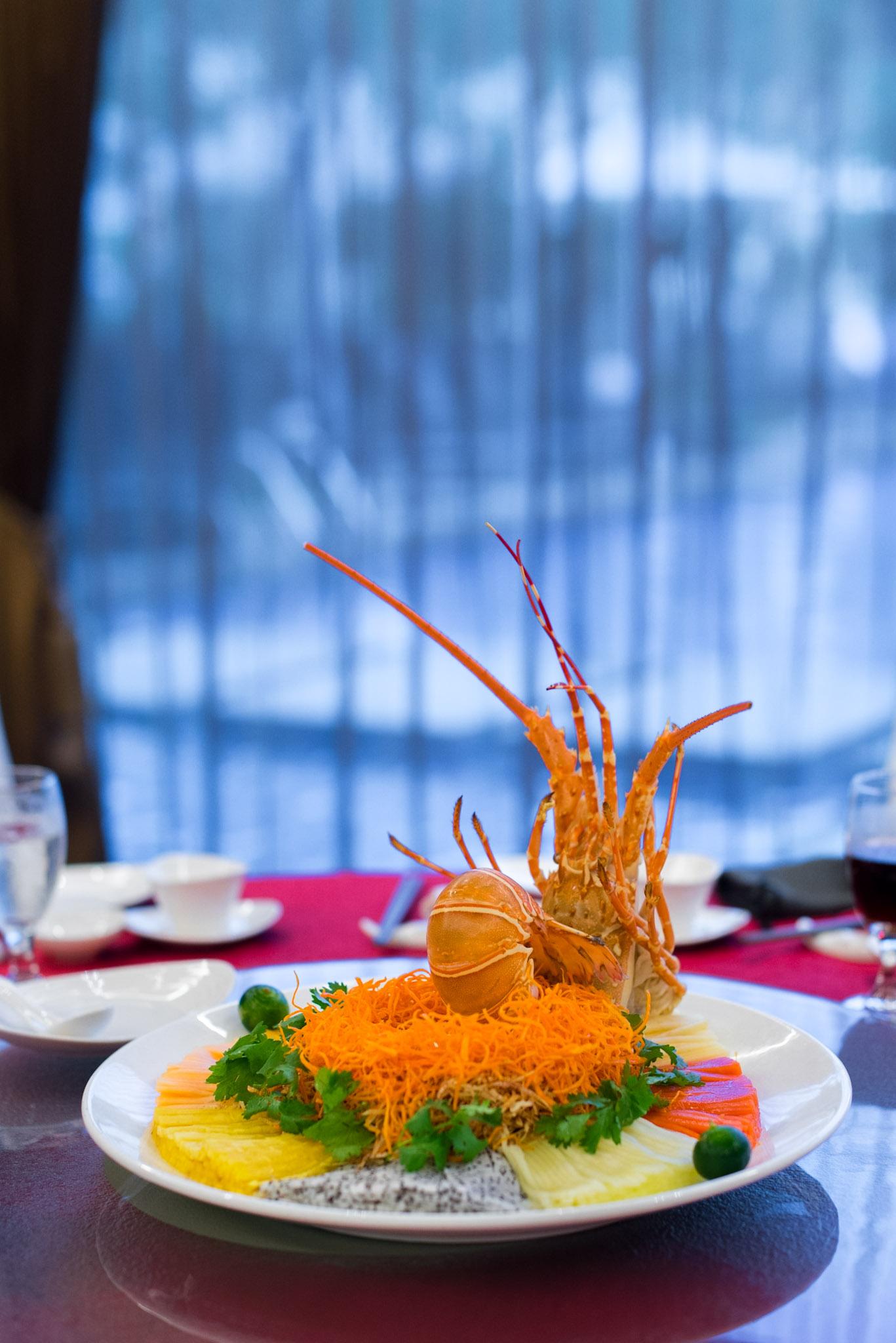 Rainbow Lobster & Crab Meat 'Lo Hei'  Park Hotel Clarke Quay
