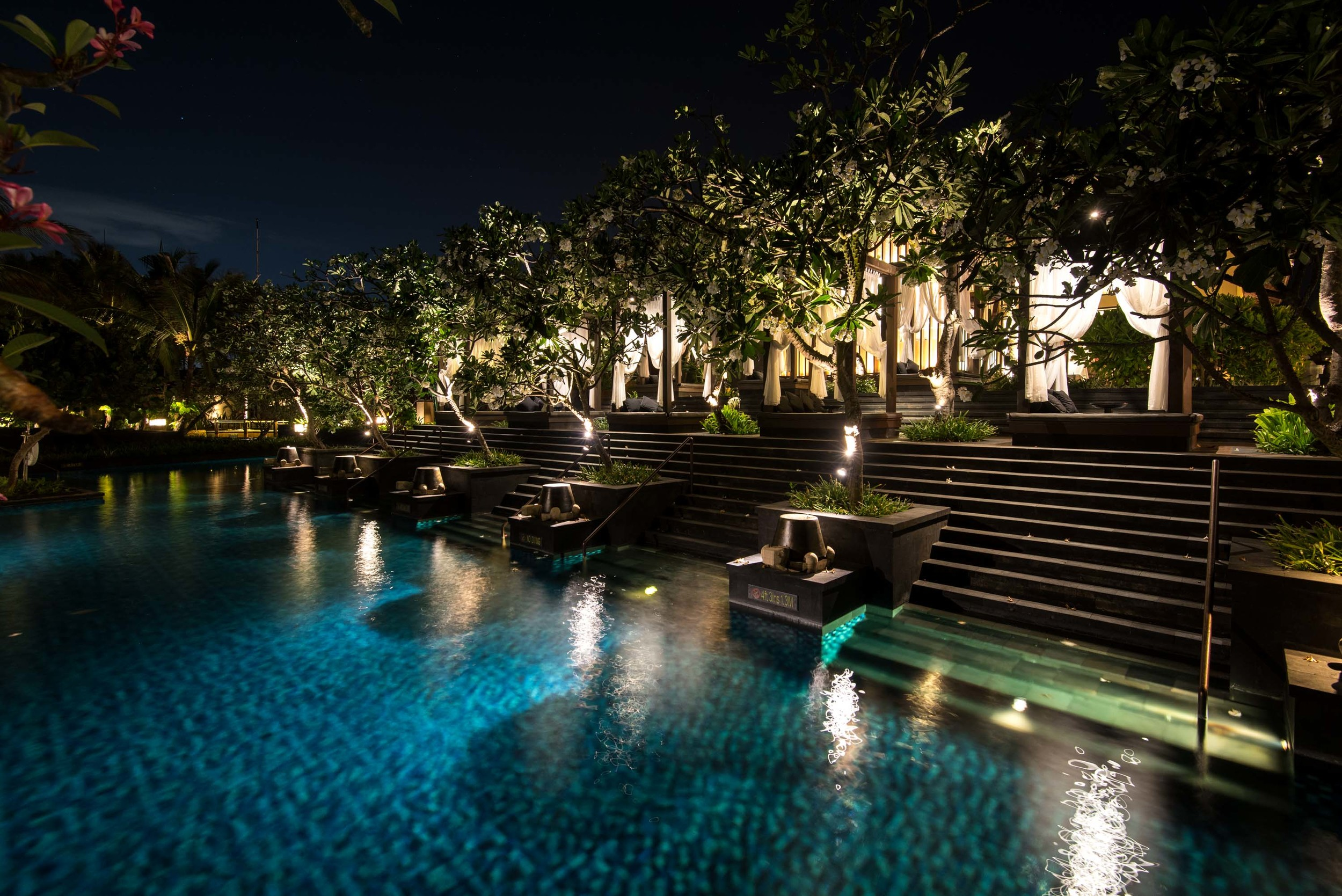 Swimming Pool at Night  The St. Regis Bali Resort