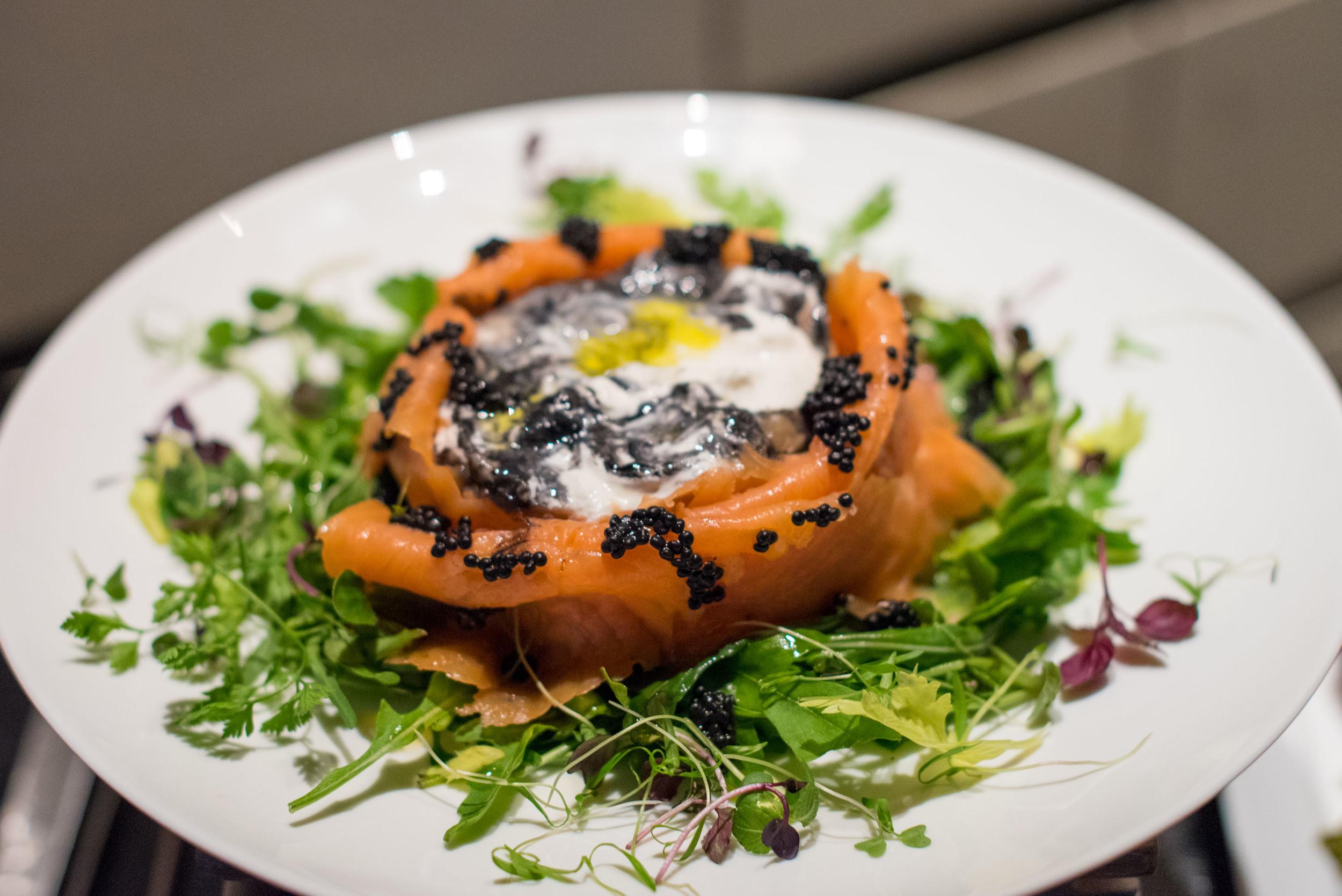 Squid Ink Burrata with Smoked Salmon and Caviar - 2016 Basilissimo  Basilico - Regent Singapore
