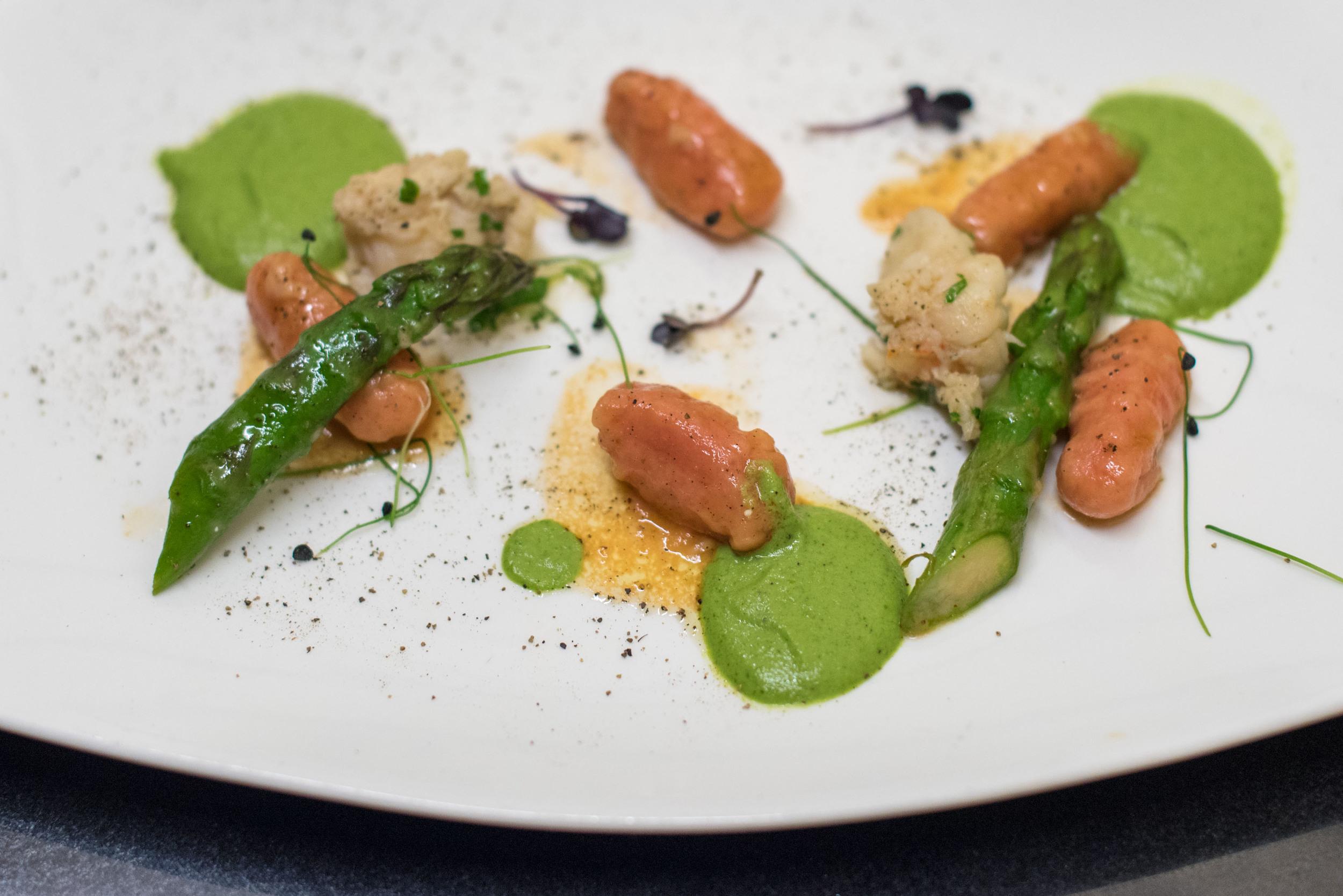 Homemade Beetroot Gnocchi with Boston Lobster and Asparagus Cream- 2016 Basilissimo  Basilico - Regent Singapore