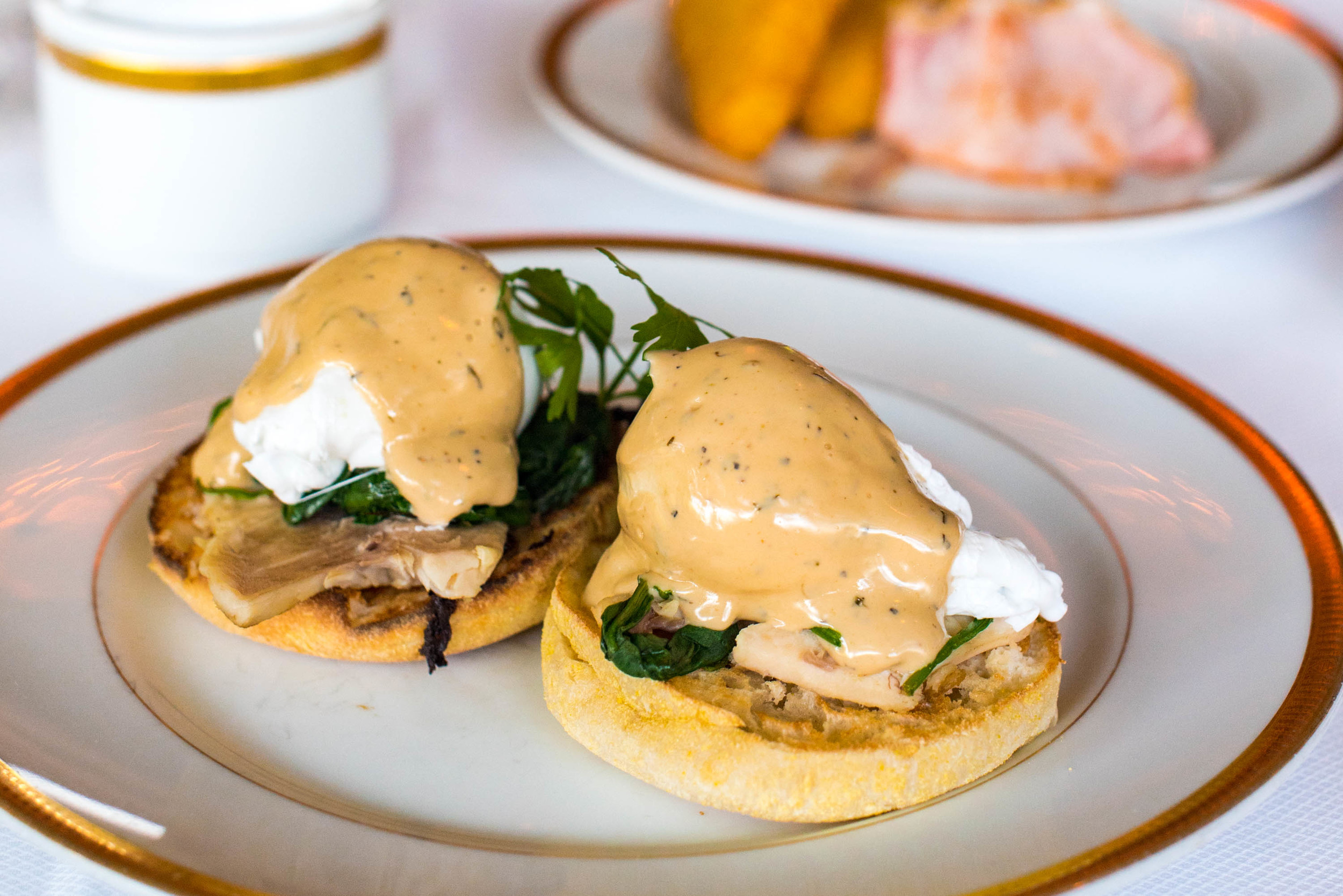 Smoked Ocean Trout, Spinach and Bearnaise Sauce - Breakfast   Valley Wing - Shangri-La Hotel, Singapore