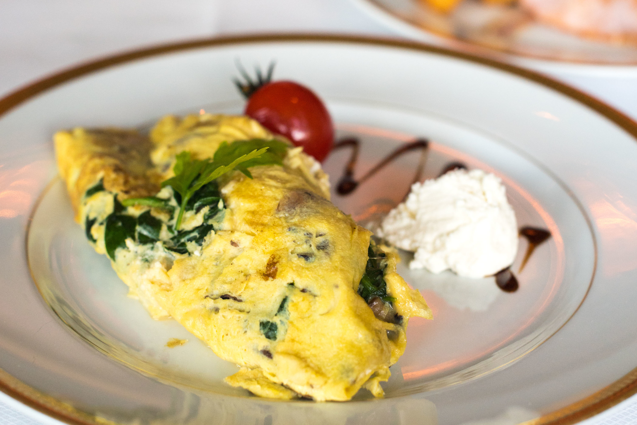 Char-grilled Mushroom, Ricotta and Spinach Omelette - Breakfast  Valley Wing - Shangri-La Hotel, Singapore