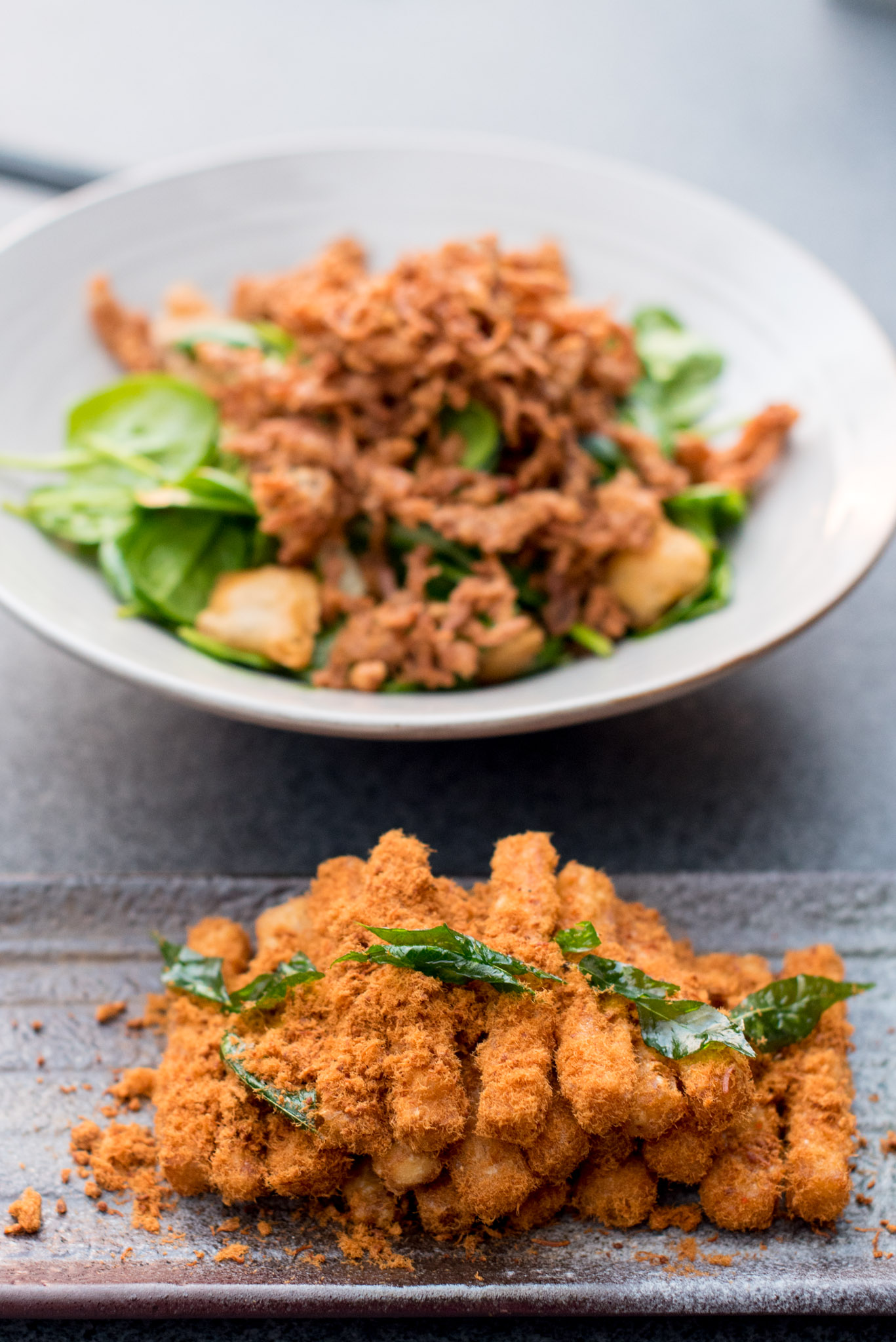 Crispy Eggplant and Pork Floss (from S$10++)  EMPRESS by The Privé Group