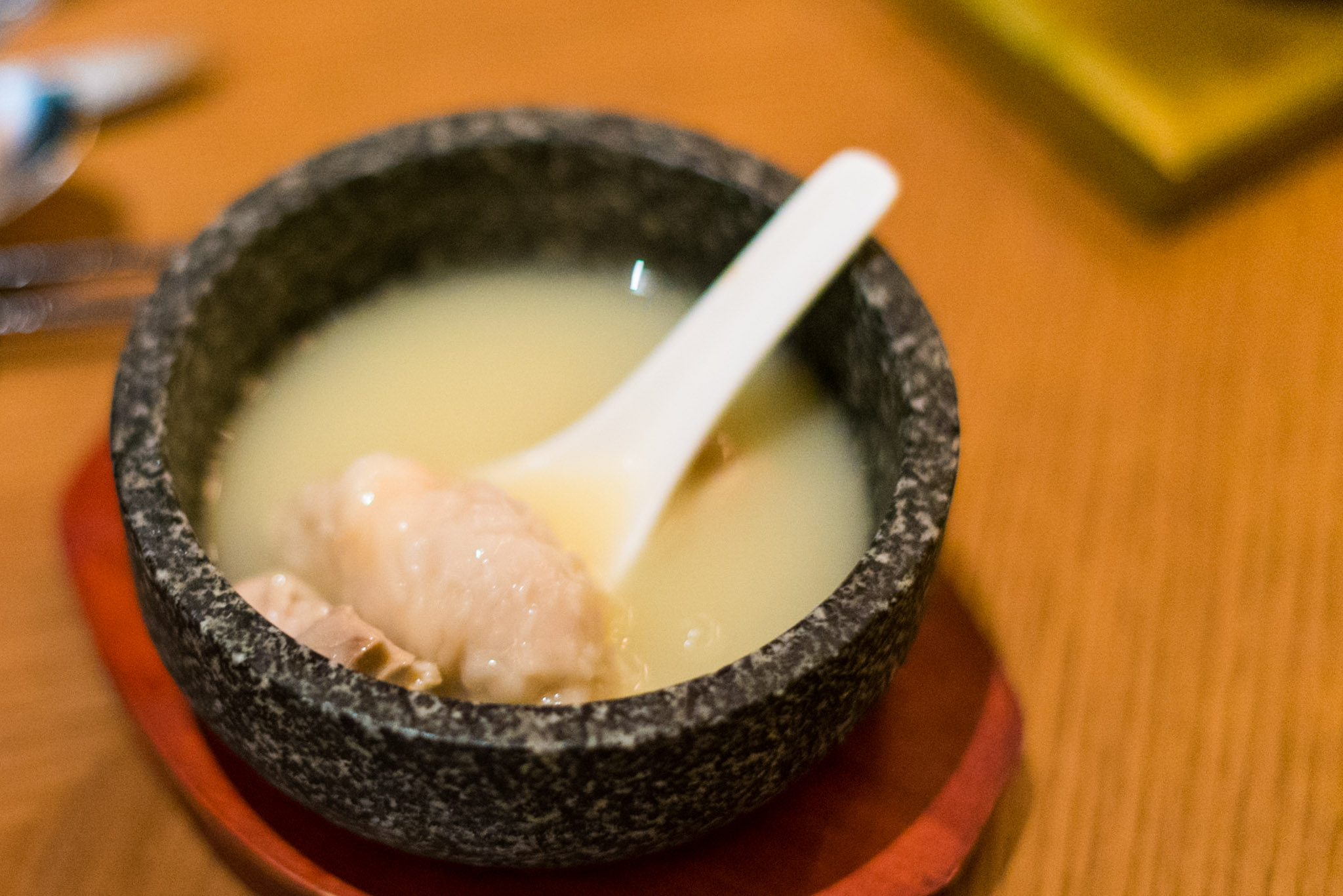 King Prawn Dumpling in Supreme Broth (S$14++)  EMPRESS by The Privé Group