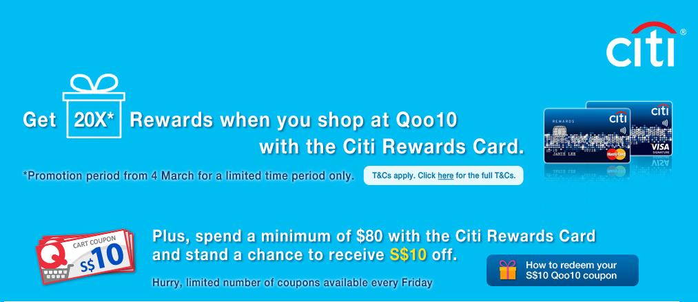 20X Citi Dollars with Qoo10 | Photo Credit: Qoo10