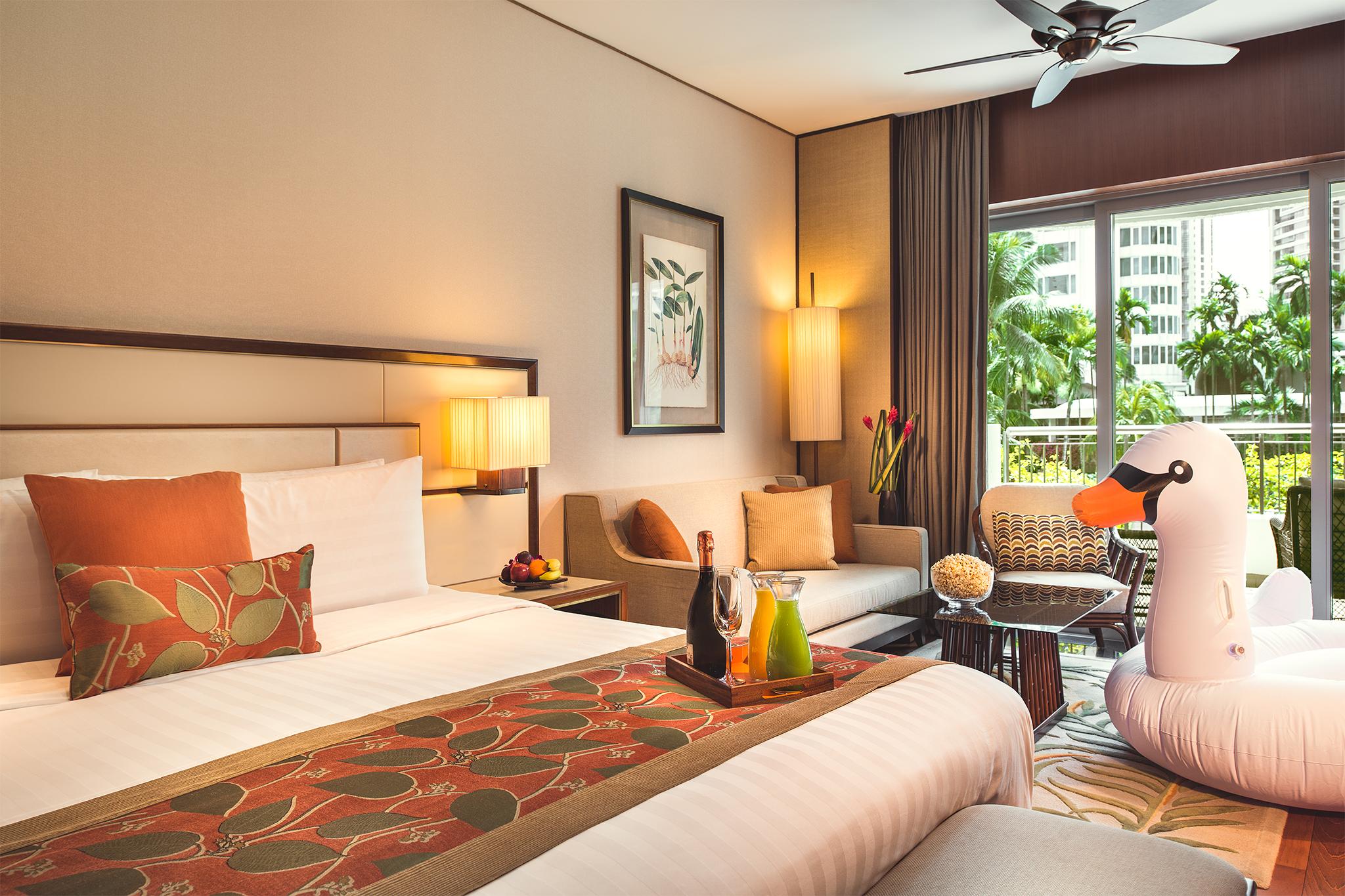 Garden Wing Deluxe Room  | Photo Credit: Shangri-La Hotel, Singapore