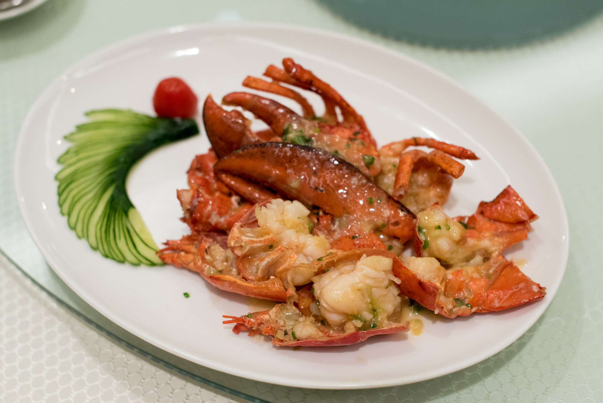 Boston Lobster with Supreme Stock    Wah Lok - Carlton Hotel Singapore