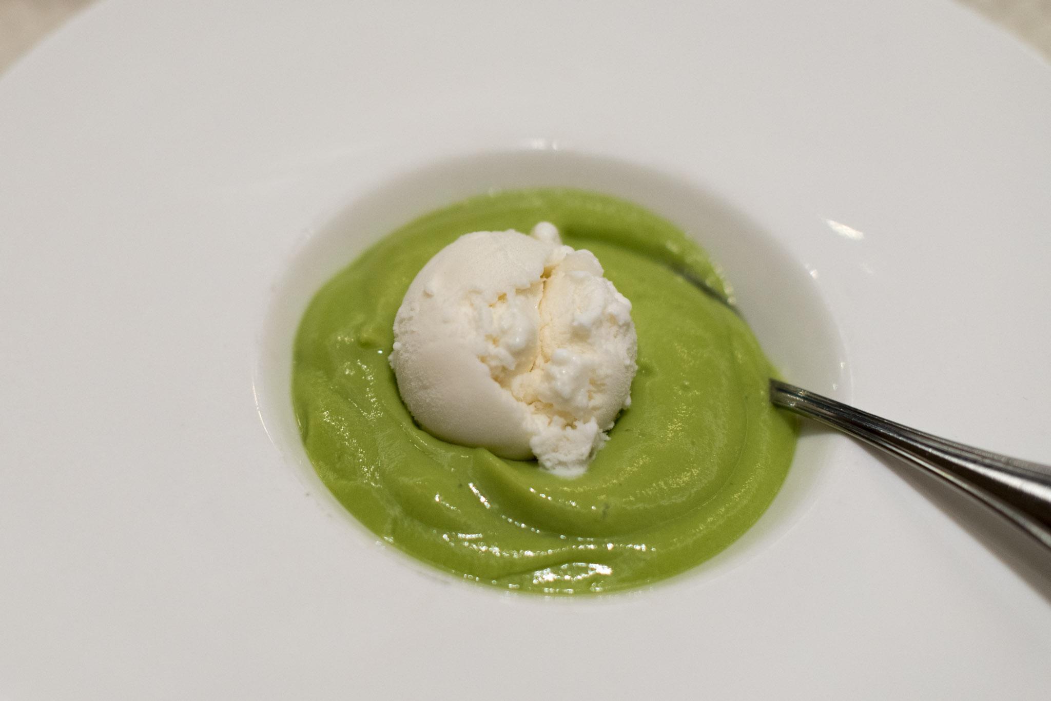 Ice-cream with Avocado Cream   Wah Lok - Carlton Hotel Singapore
