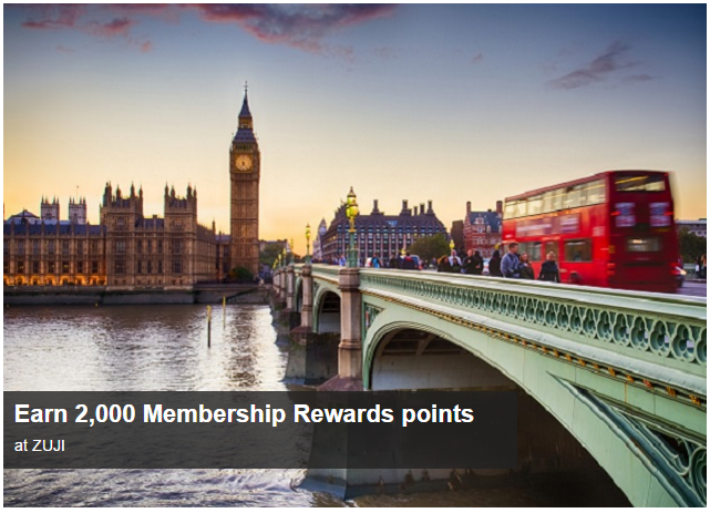 Earn 2,000 Bonus Points with American Express on Zuji | Photo Credit: American Express