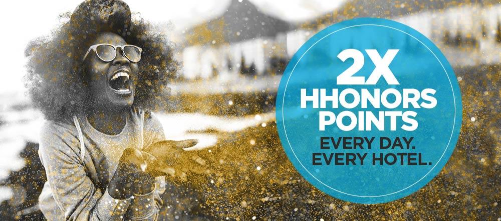Double Hilton HHonors Points | Photo Credit: Hilton HHonors