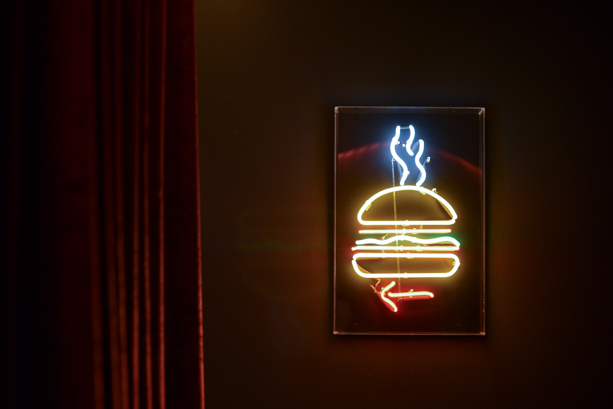 Follow the Neon Sign  Burger Joint Singapore