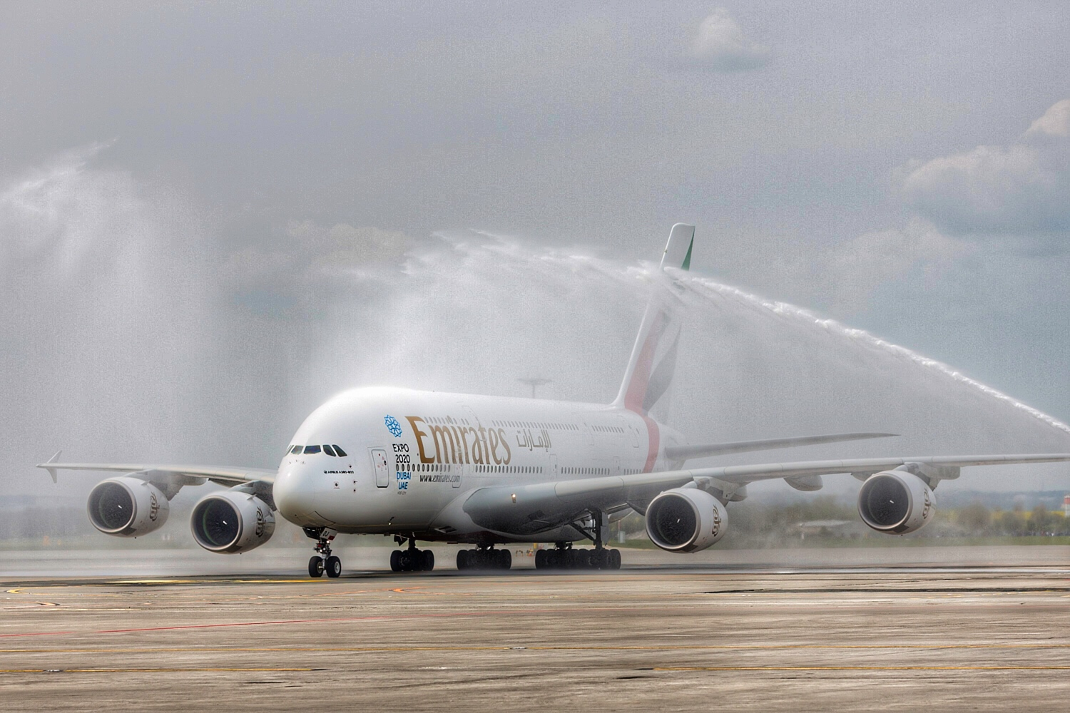 Water Cannon Salute in Prague   Photo Credit: Emirates
