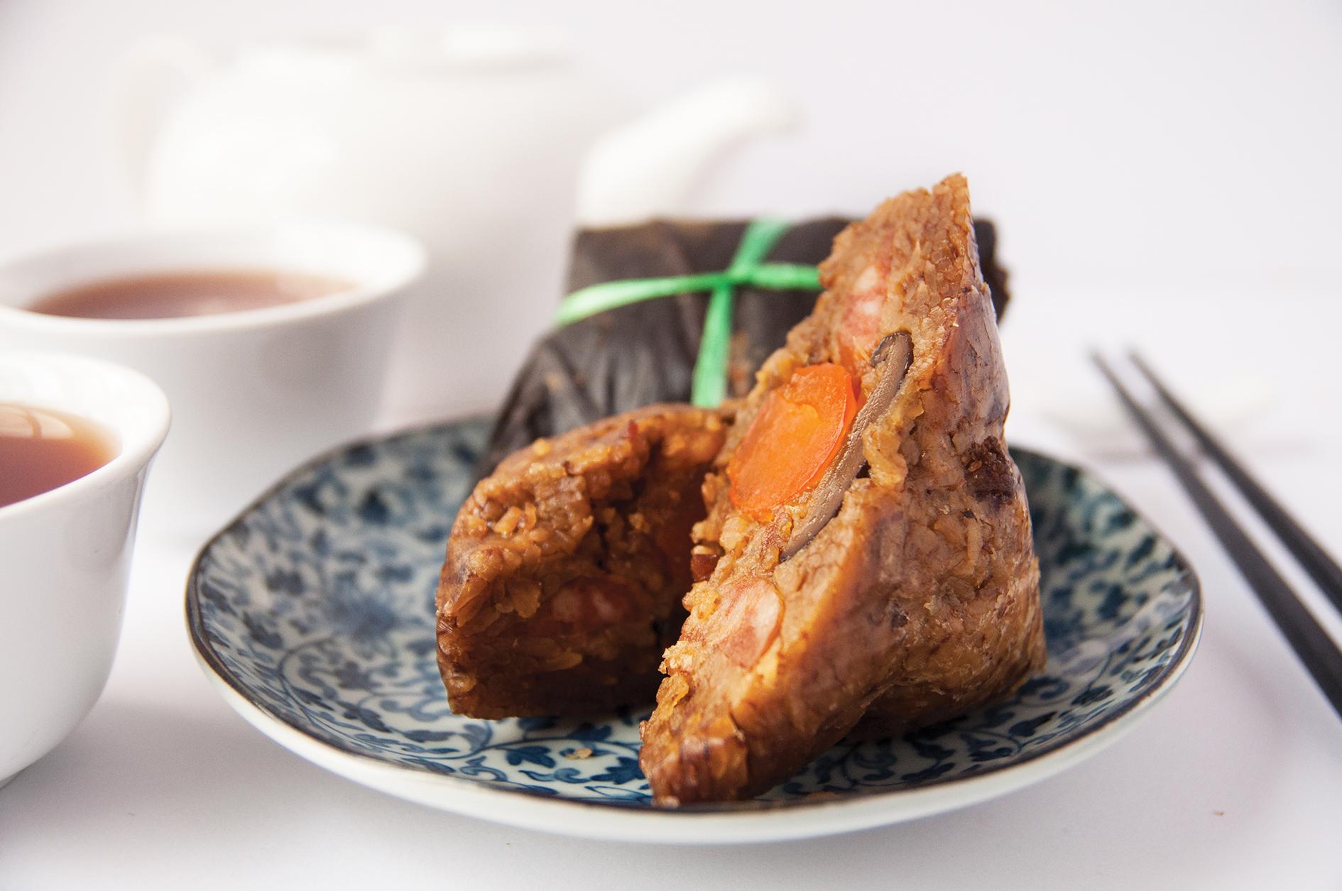 Chicken with Salted Egg Yolk and Chestnut Dumpling (咸蛋黄栗子鸡肉炒米粽)  S$12.65 nett (Takeaway) or S$11.80++ (Dine-in)