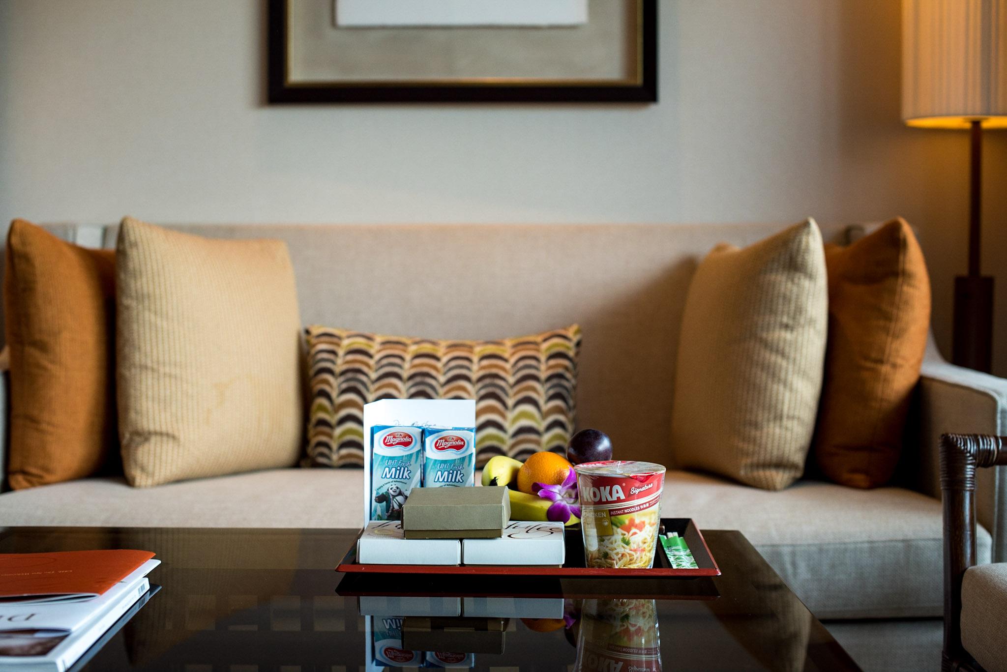 Welcome Amenities (Jade Member)   Garden Wing Deluxe Room - Shangri-La Hotel, Singapore