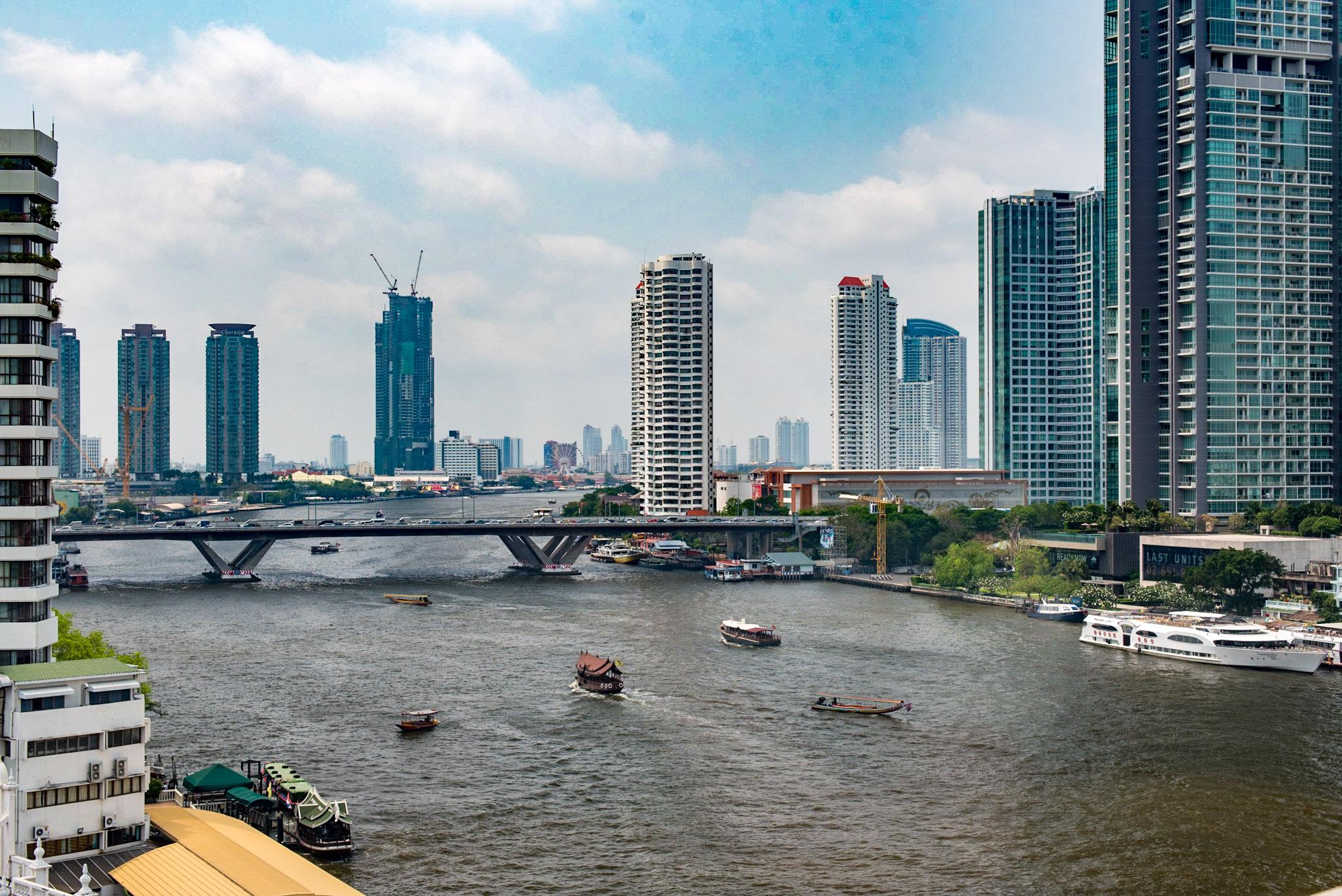 View from Deluxe Room    Mandarin Oriental, Bangkok