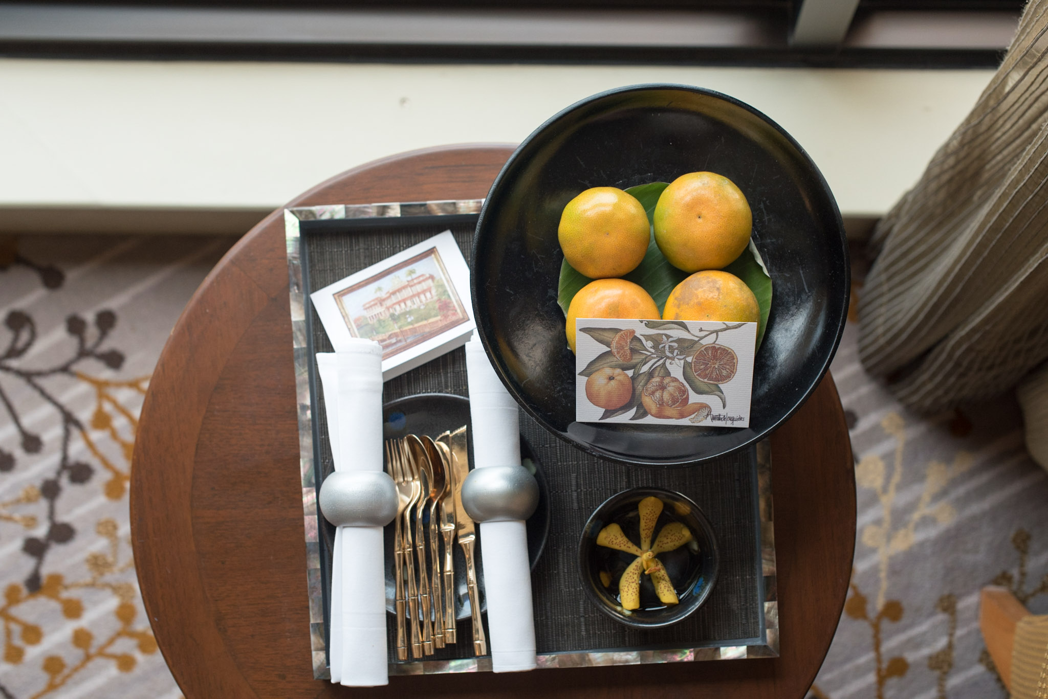 Fruit Platter - Deluxe Room  Mandarin Oriental, Bangkok