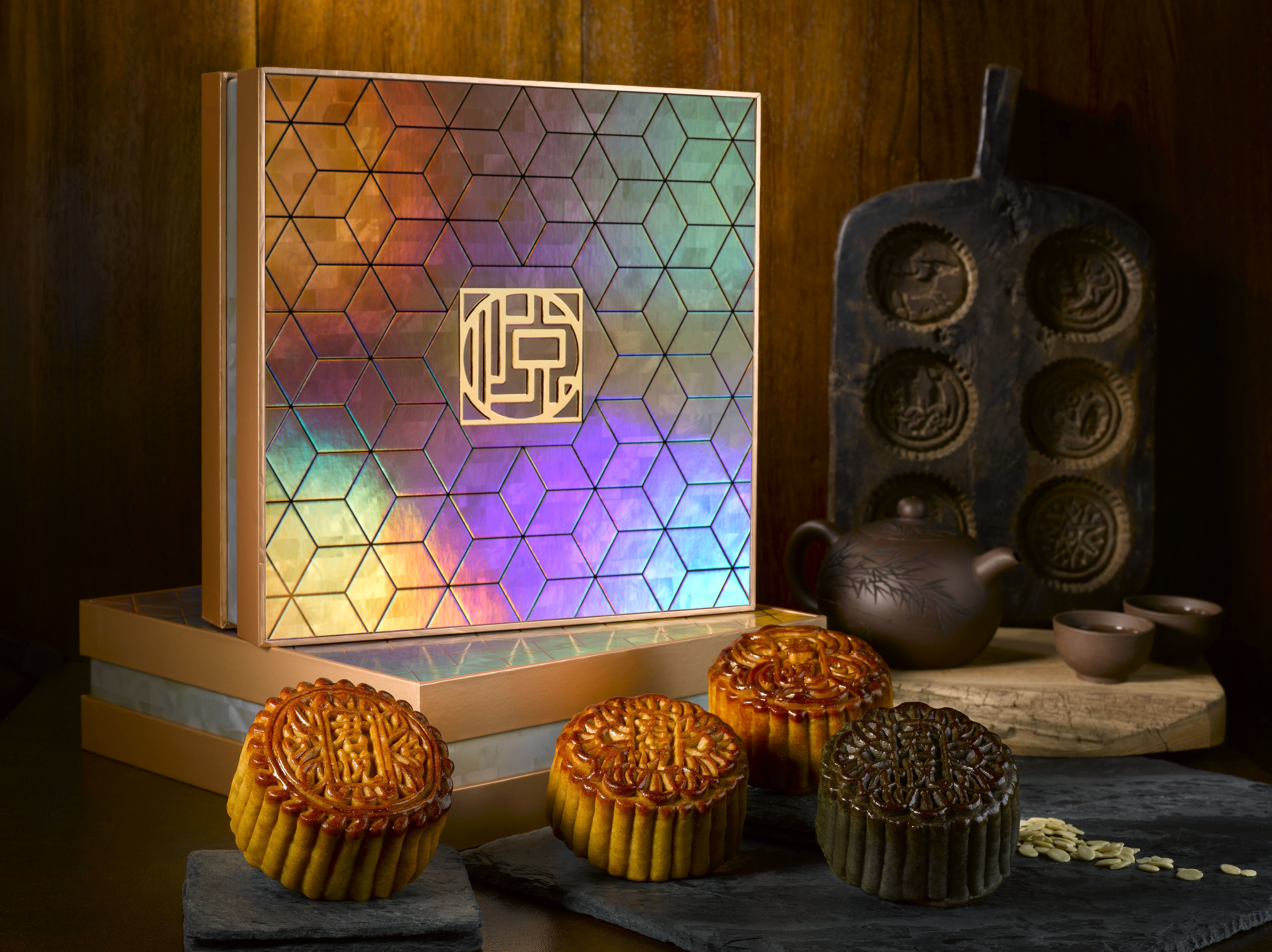 Traditional Mooncakes (S$69 for a Box of Four) | Photo Credit: Grand Hyatt Singapore