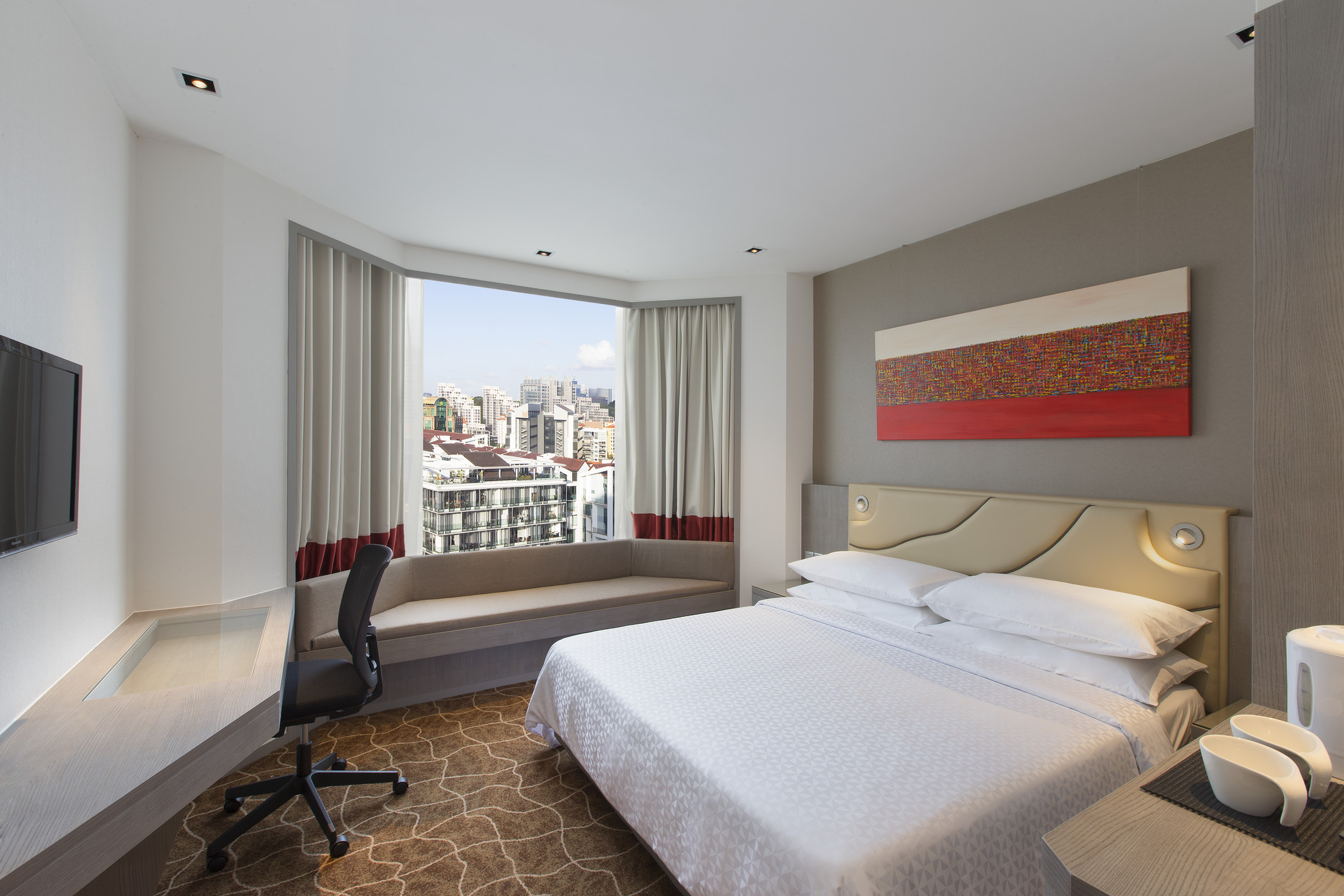 Bedroom | Photo Credit: Four Points by Sheraton Singapore, Riverview