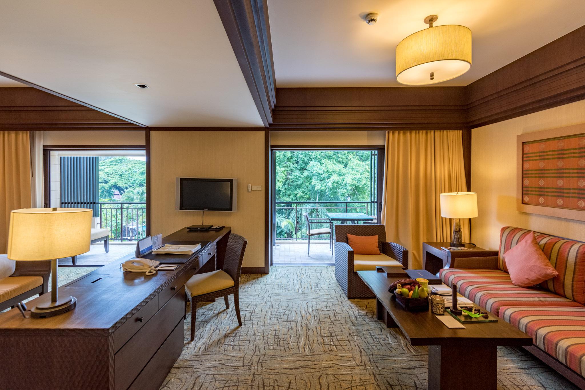 Living Room - Rasa Premier Room  Rasa Wing - Shangri-La's Rasa Sayang Resort & Spa, Penang