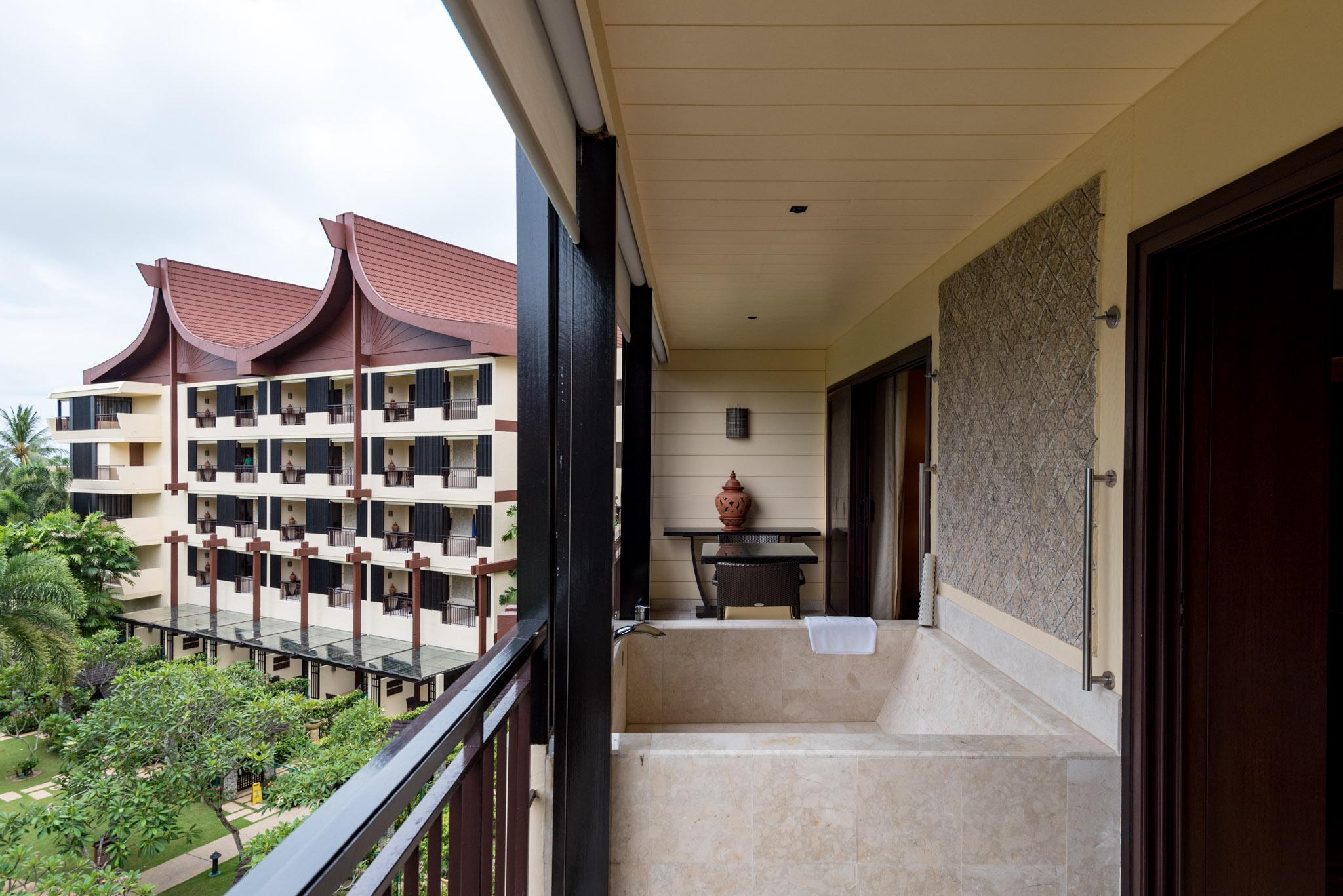 Outdoor Bathtub - Rasa Premier Room    Rasa Wing -  Shangri-La's Rasa Sayang Resort & Spa, Penang