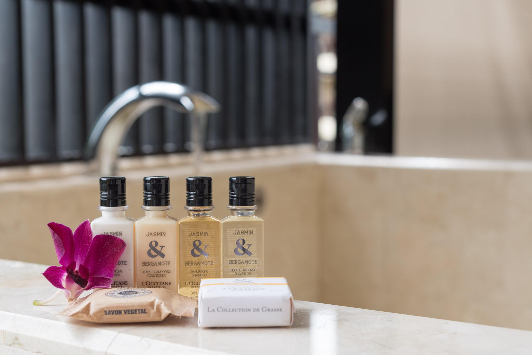 Bath Amenities - Rasa Premier Room     Rasa Wing -  Shangri-La's Rasa Sayang Resort & Spa, Penang