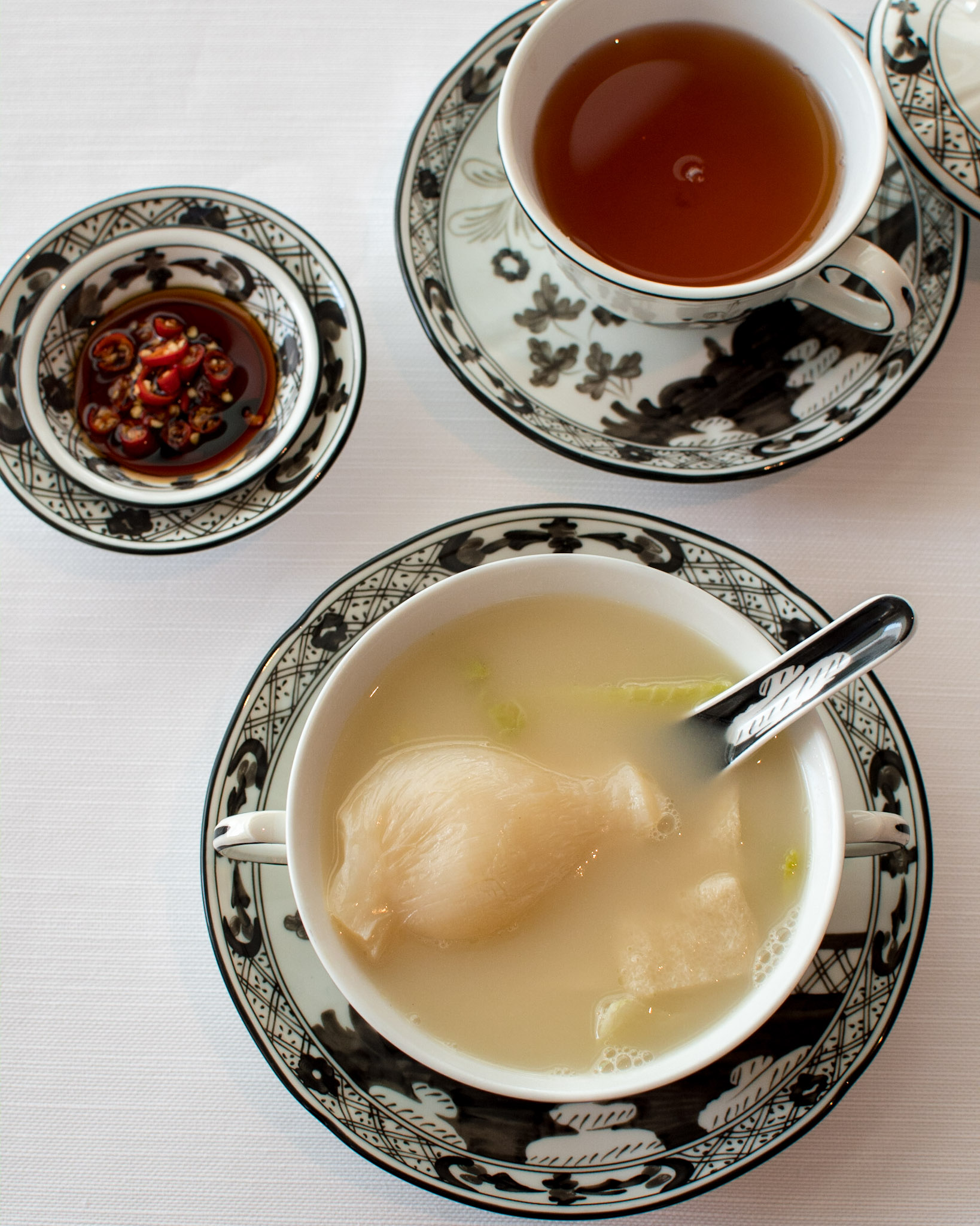 Double-boiled Superior Chicken Soup, Fish Maw,Bamboo Pith, Chinese Cabbage   Michelin Star Menu (Lunch) -  The Ritz-Carlton, Millenia Singapore