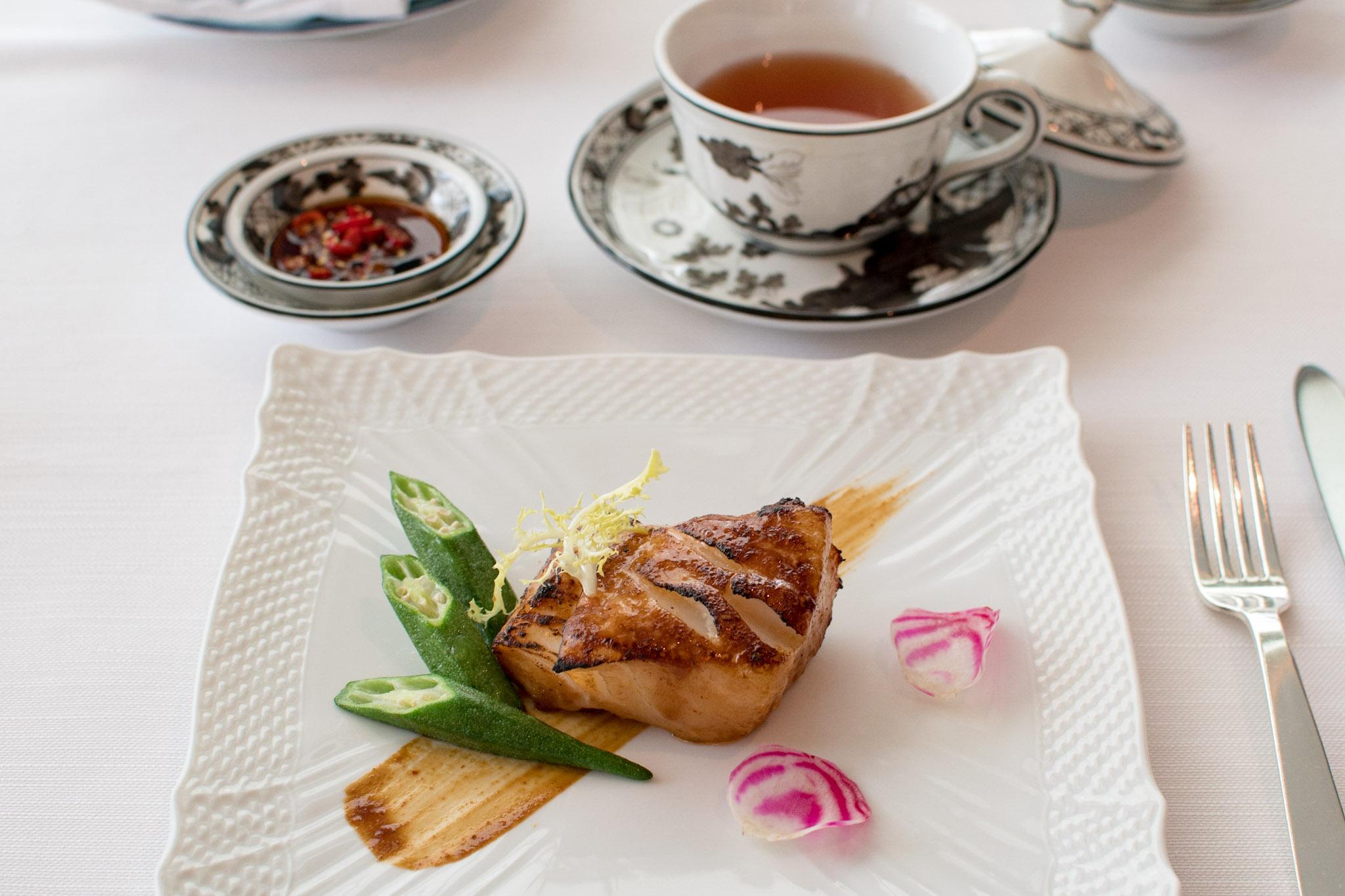 Baked Sea Perch, Hoi Sin Sauce    Michelin Star Menu (Lunch) -  The Ritz-Carlton, Millenia Singapore