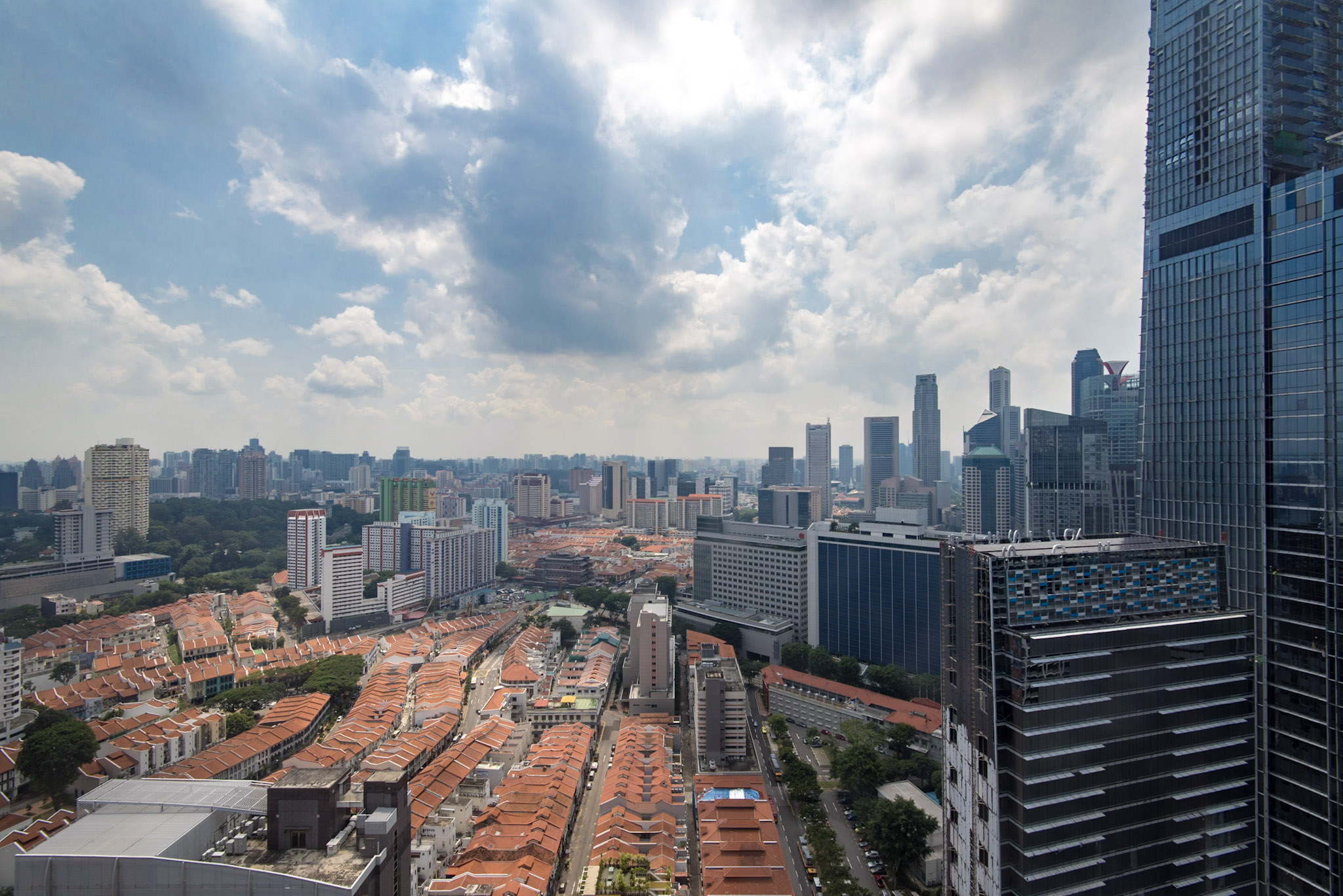 View from Club Room     Oasia Hotel Downtown Singapore