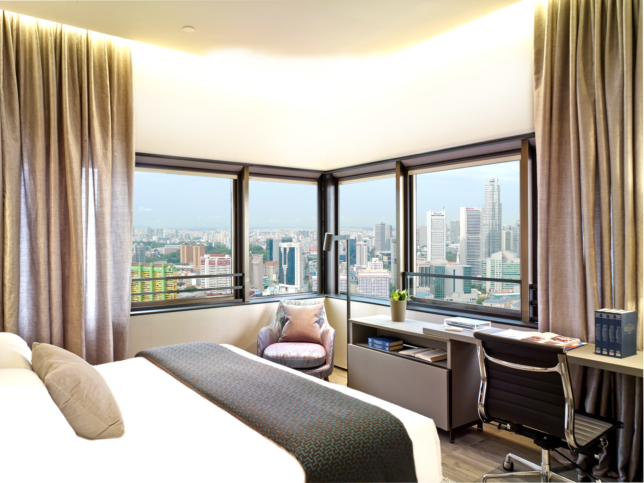Bedroom | Photo Credit:  Oakwood Premier OUE Singapore