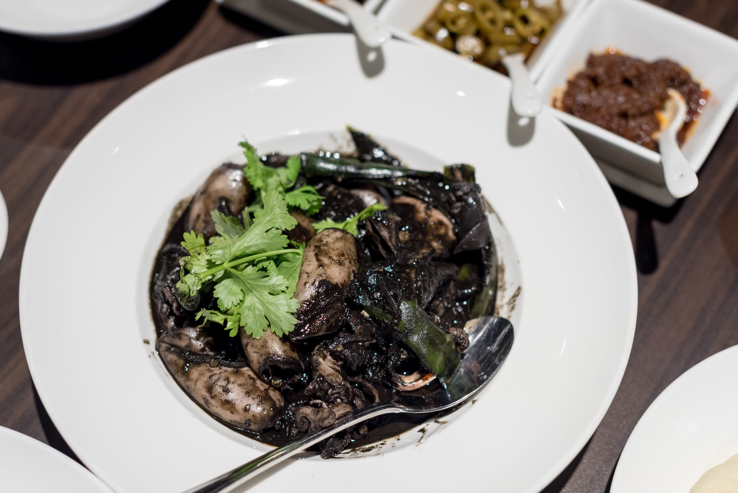Black Ink Sotong - Treasured Flavours of Singapore  White Rose Cafe - York Hotel Singapore
