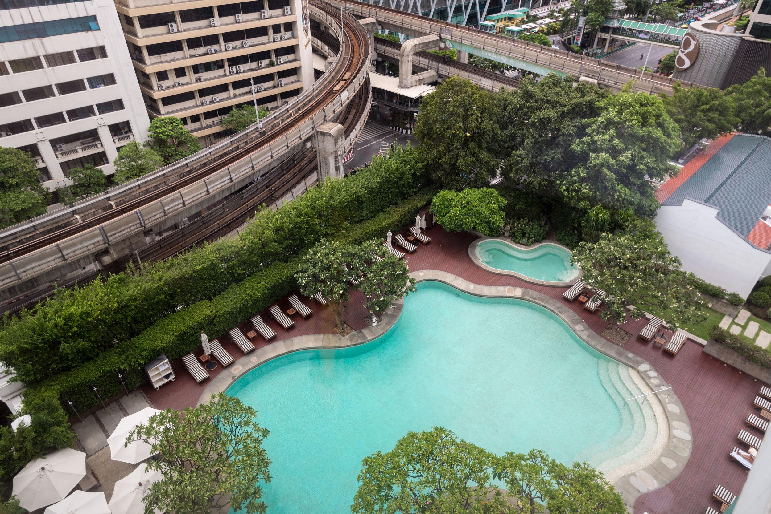 View from Bedroom    Grand Executive Suite King - Grand Hyatt Erawan Bangkok